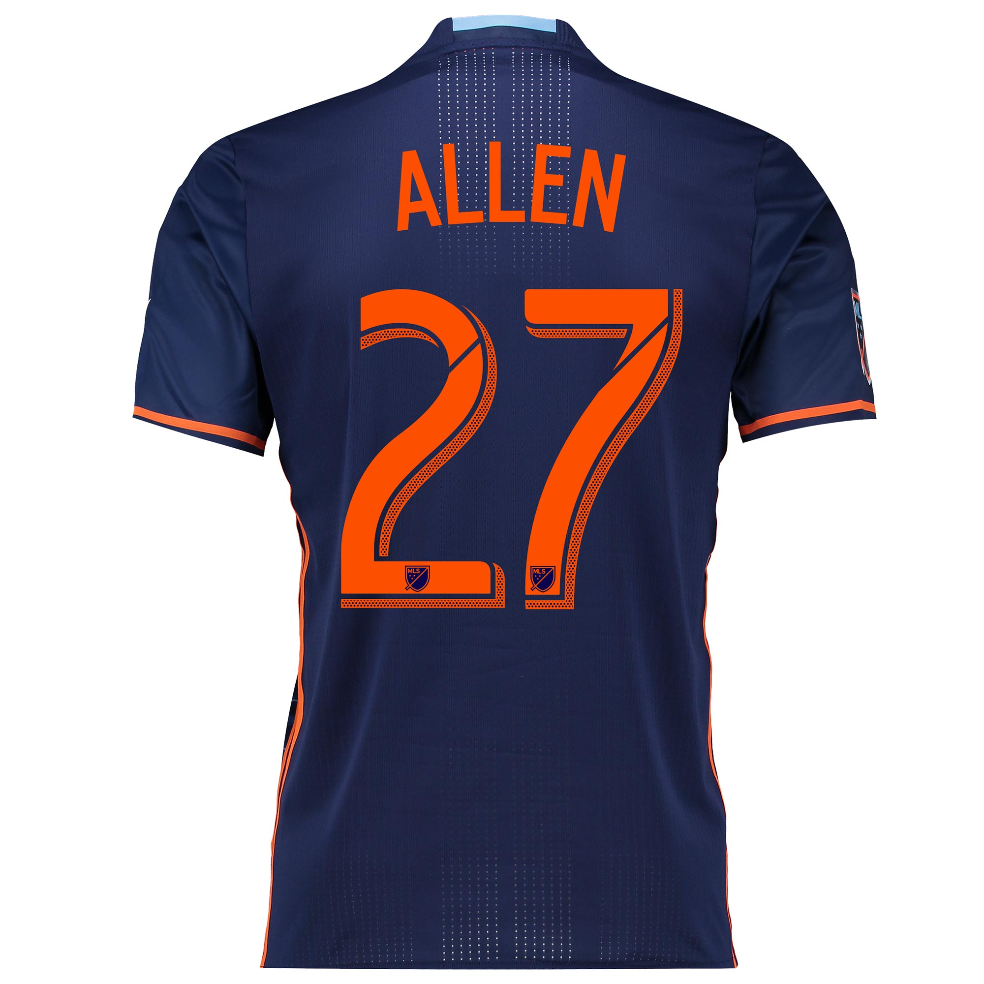 New York City FC Authentic Away Shirt 2016 with Allen 27 printing