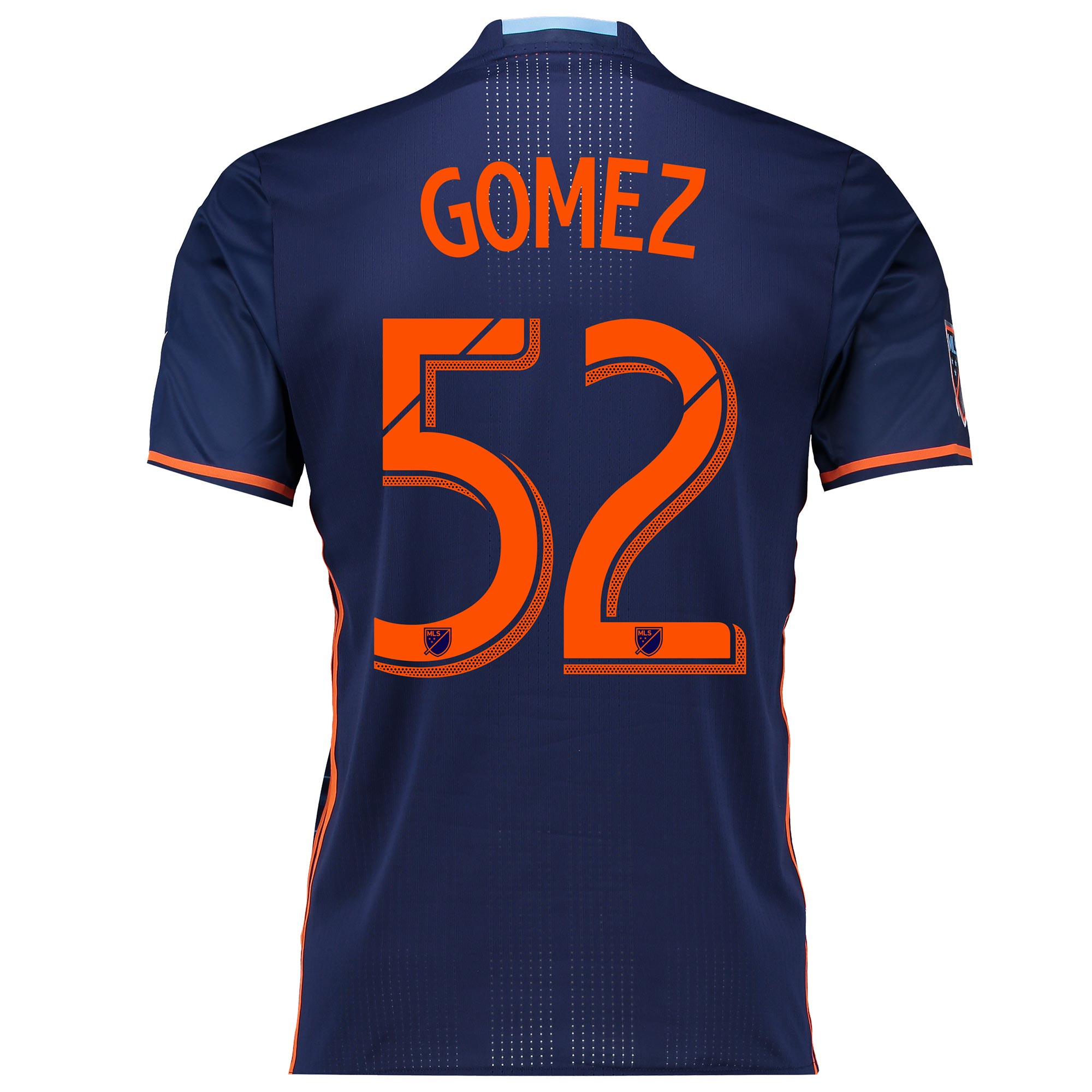 New York City FC Authentic Away Shirt 2016 with Gomez 52 printing