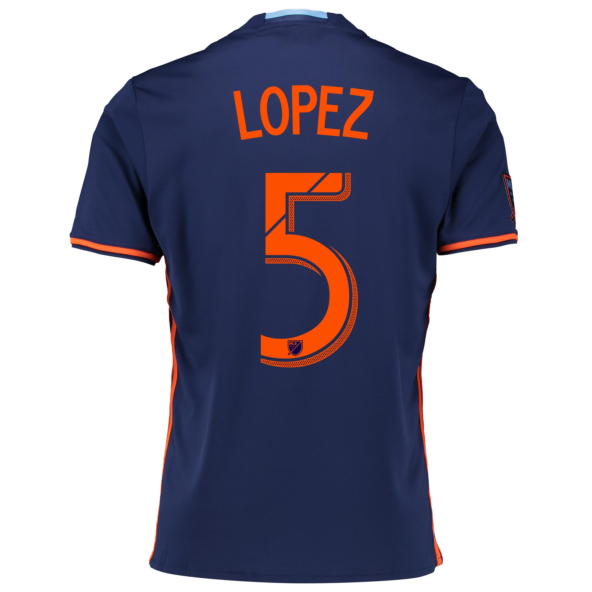 New York City FC Away Shirt 2016 with Lopez 5 printing