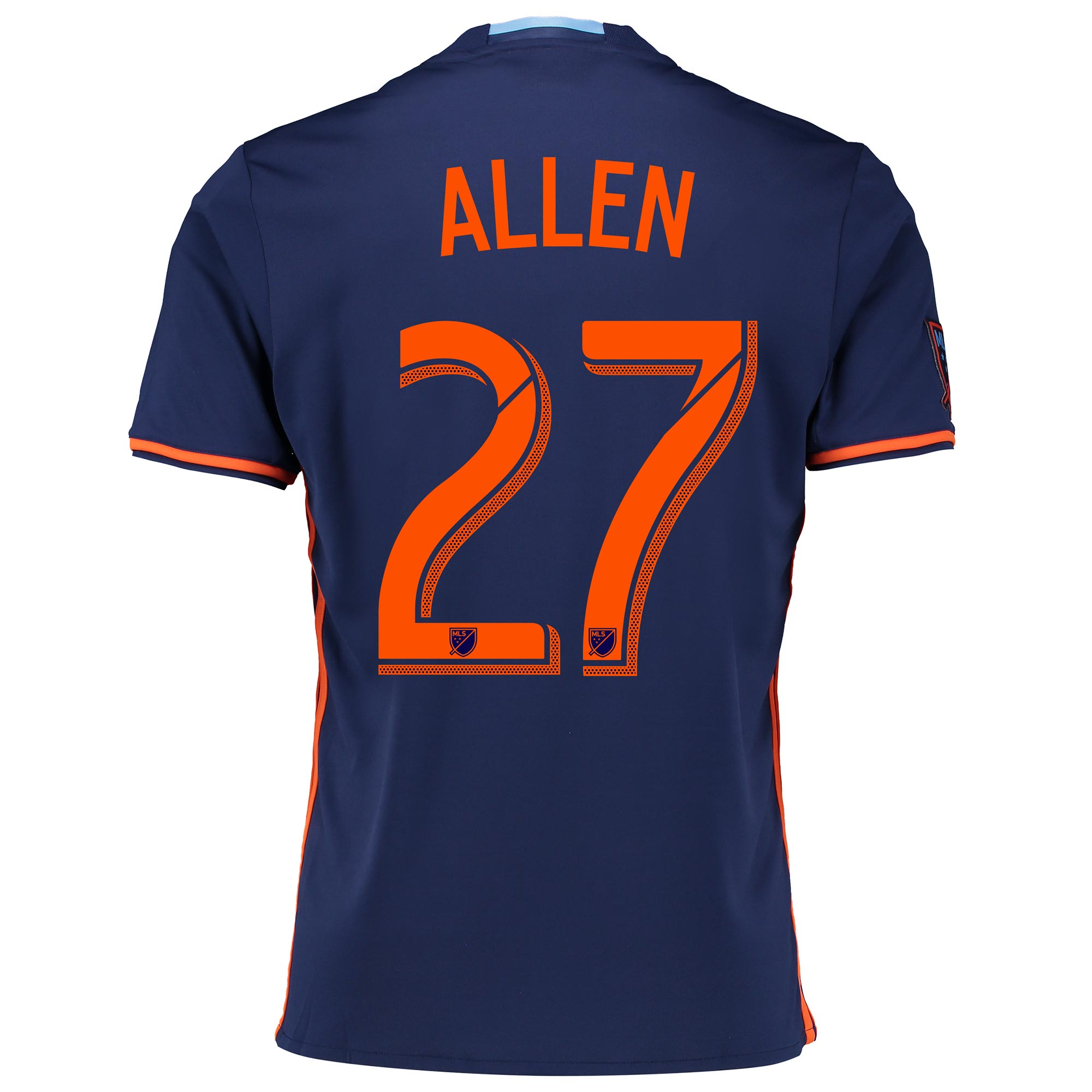 New York City FC Away Shirt 2016 with Allen 27 printing