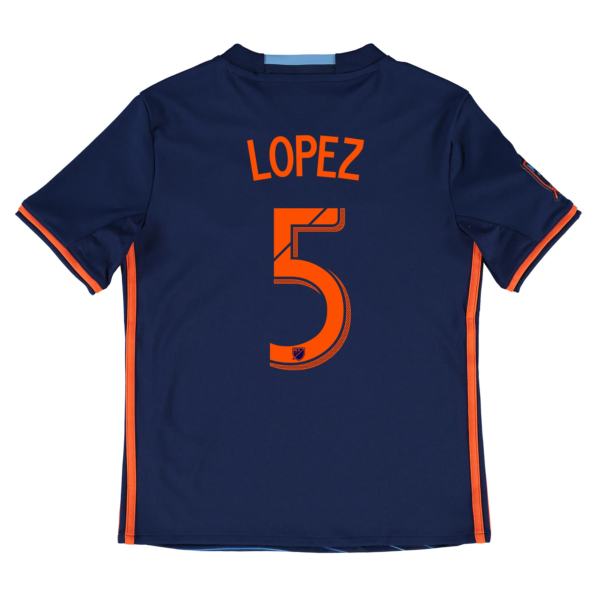 New York City FC Away Shirt 2016 - Kids with Lopez 5 printing