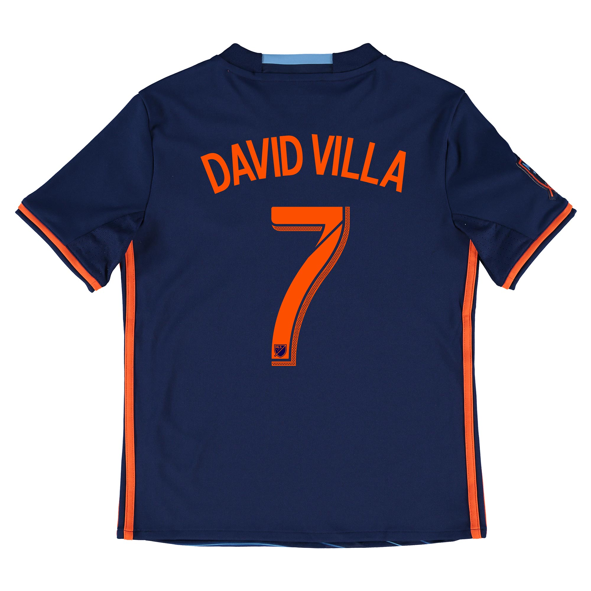 New York City FC Away Shirt 2016 - Kids with David Villa 7 printing
