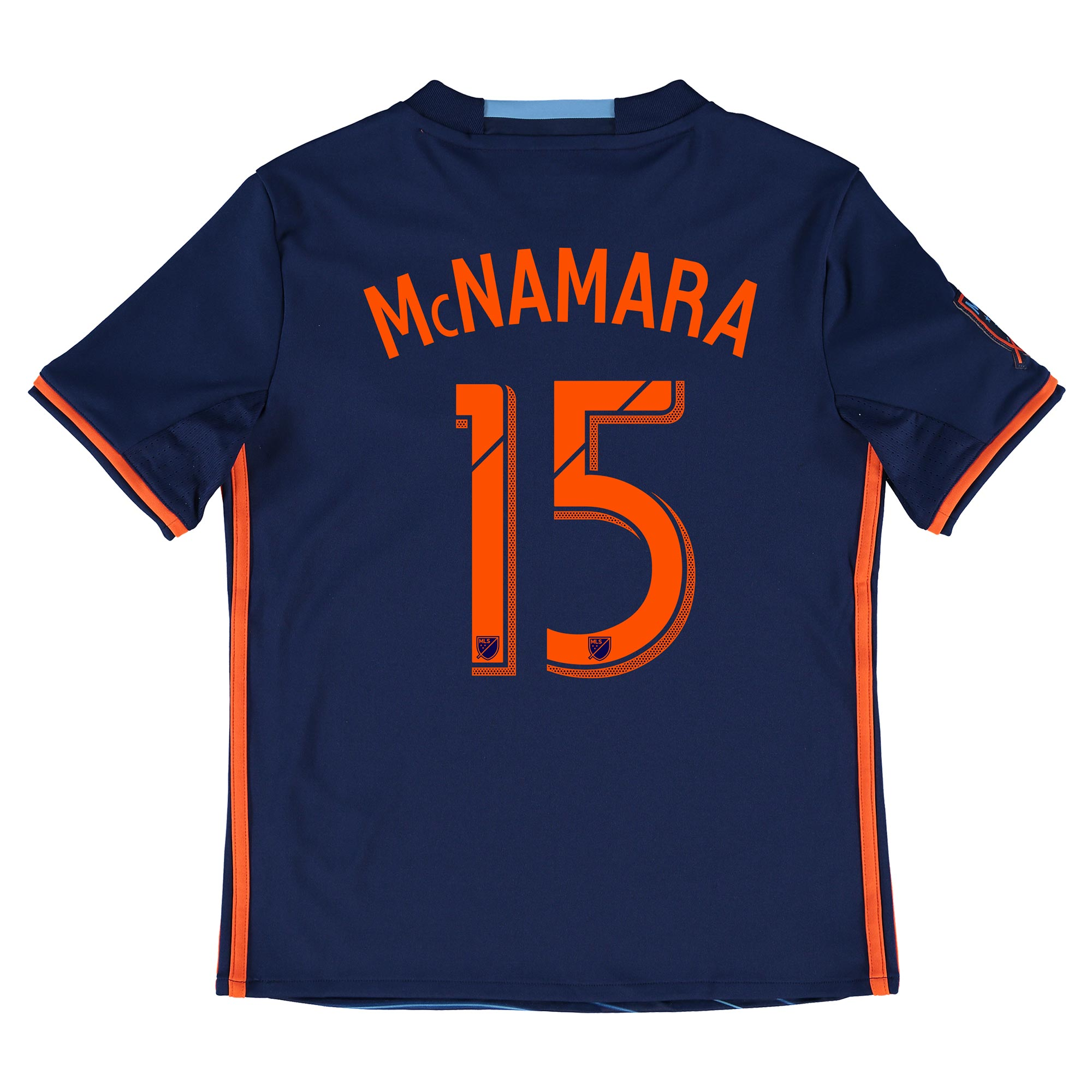 New York City FC Away Shirt 2016 - Kids with McNamara 15 printing