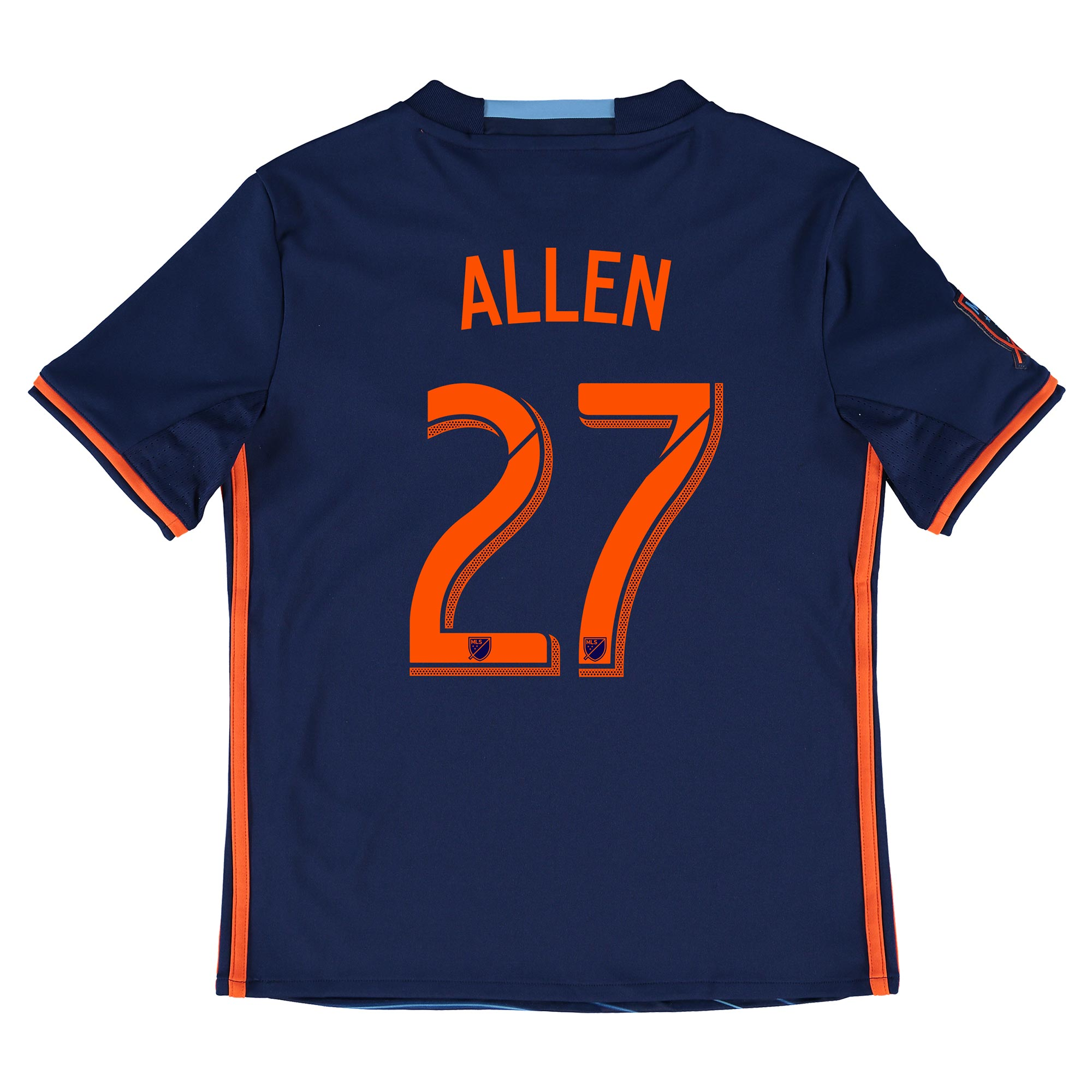 New York City FC Away Shirt 2016 - Kids with Allen 27 printing