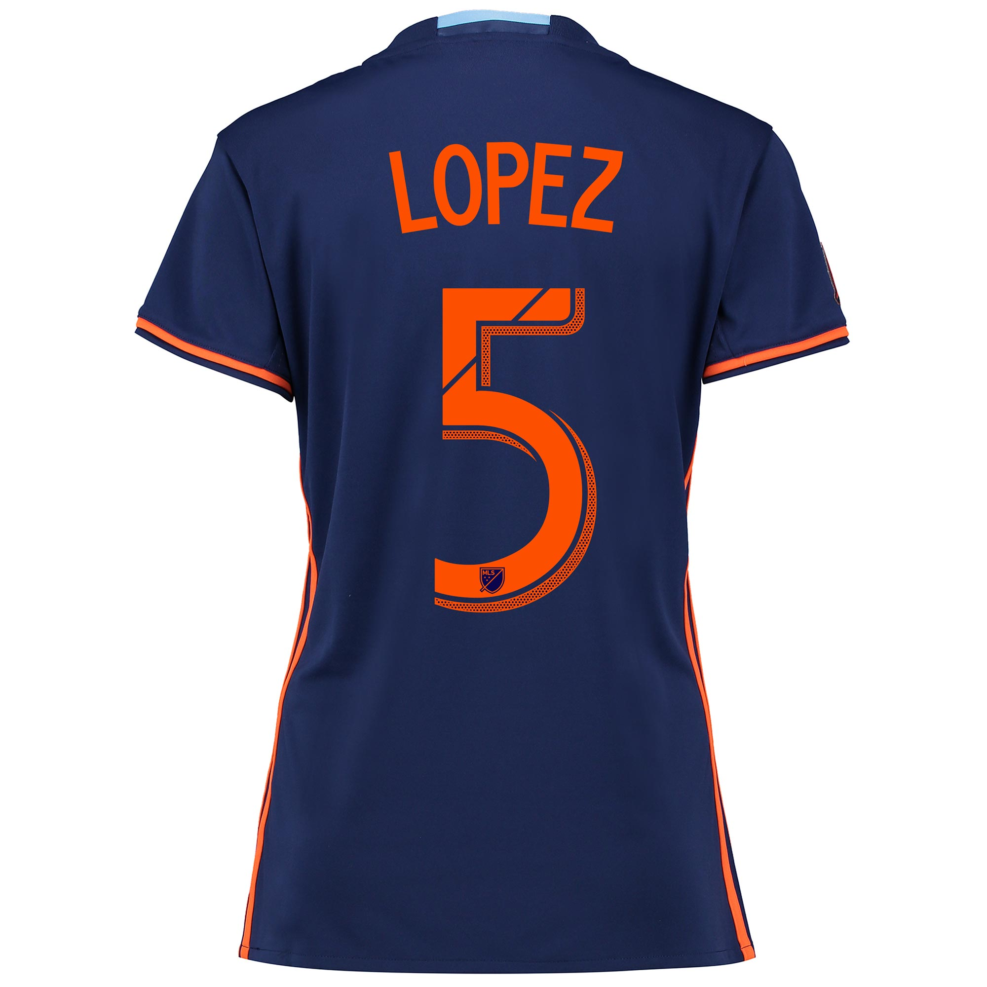 New York City FC Away Shirt 2016 - Womens with Lopez 5 printing