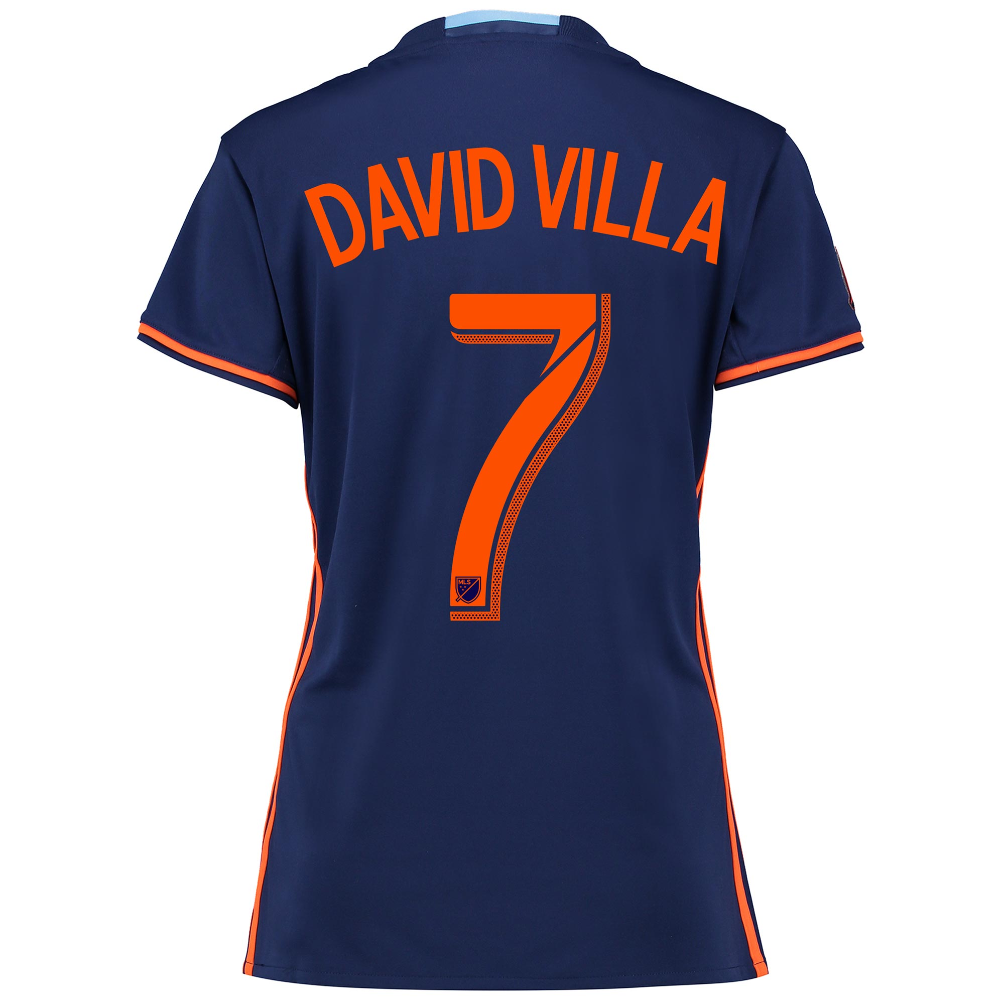New York City FC Away Shirt 2016 - Womens with David Villa 7 printing