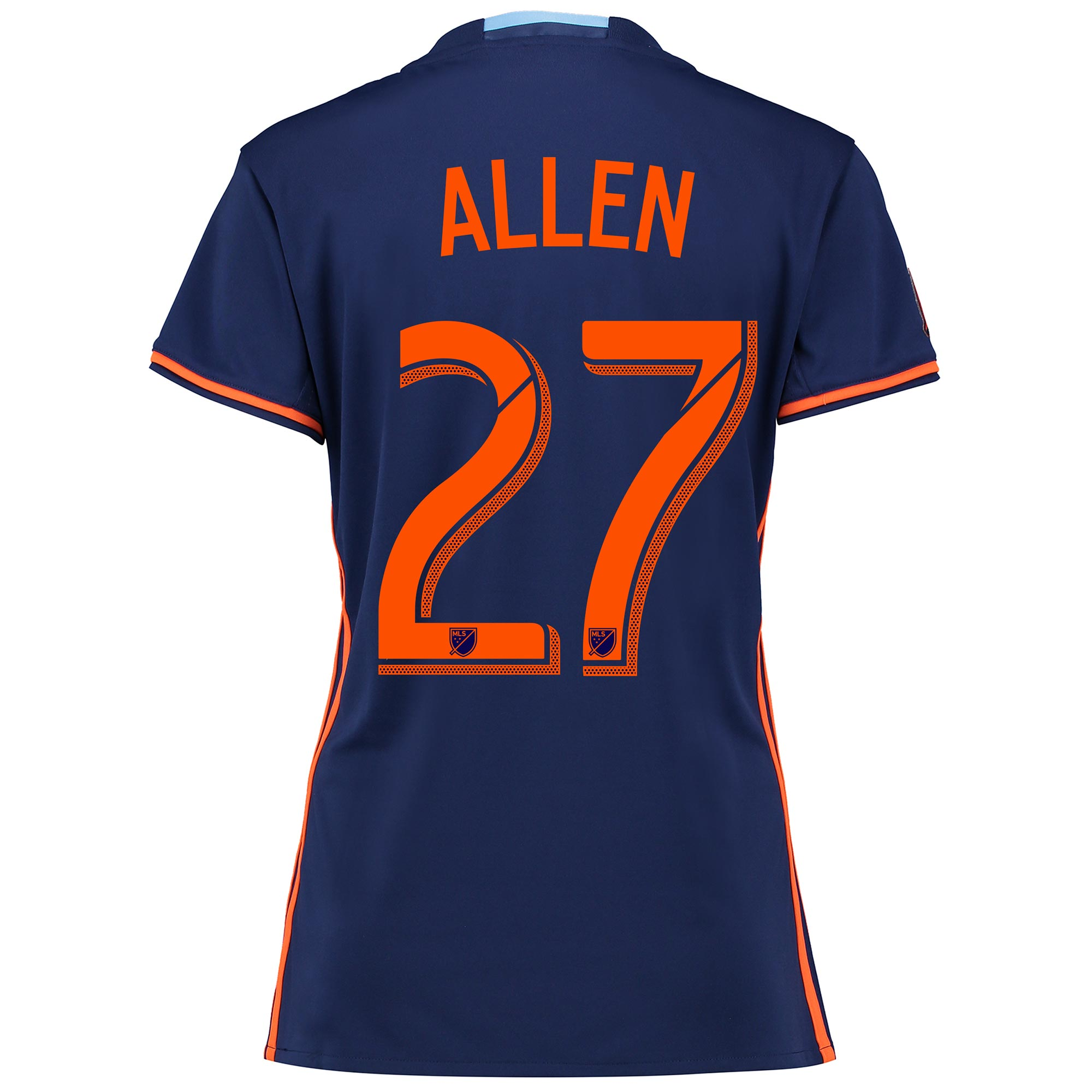 New York City FC Away Shirt 2016 - Womens with Allen 27 printing