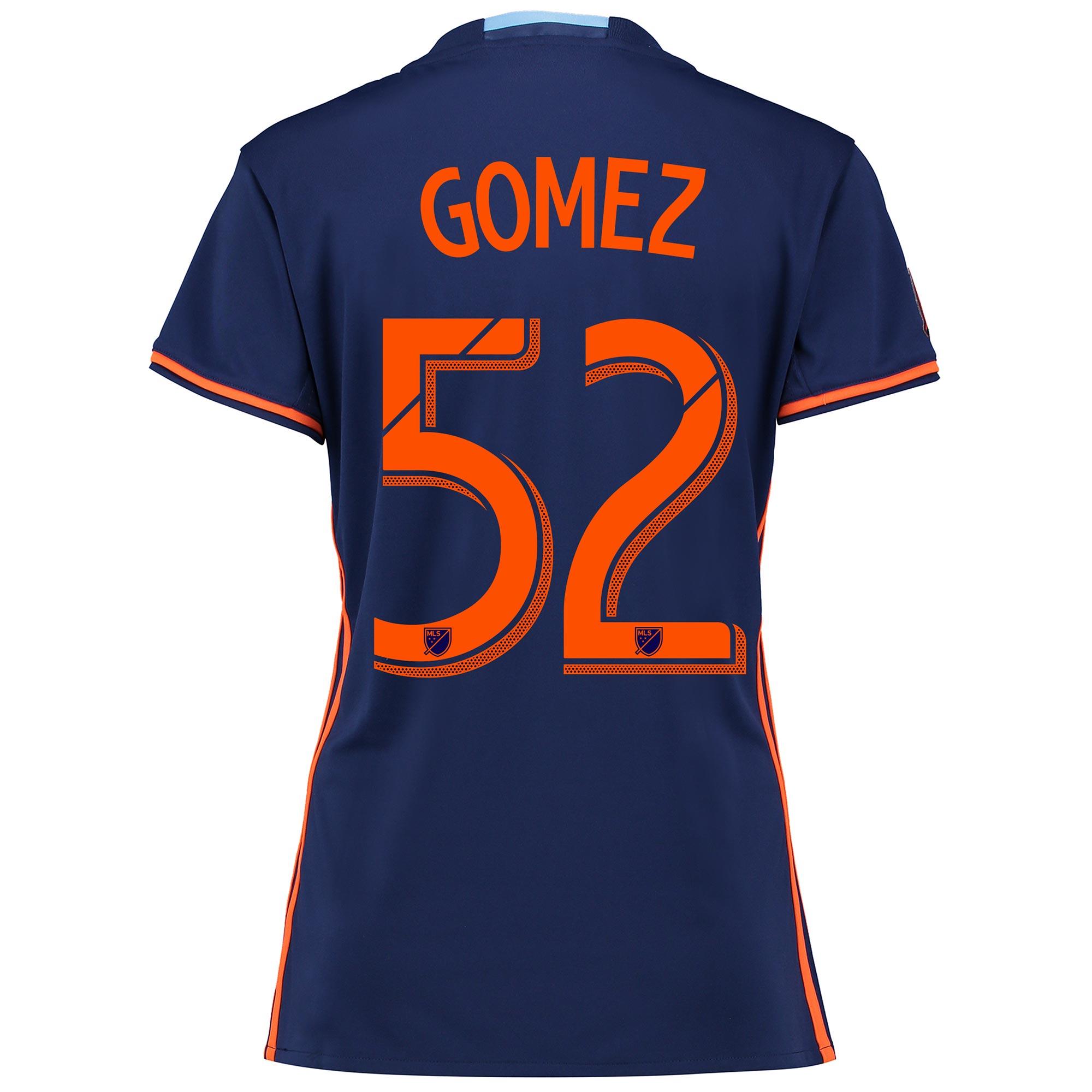 New York City FC Away Shirt 2016 - Womens with Gomez 52 printing