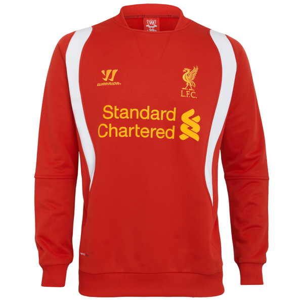 Liverpool Training Sweat Top - High Risk Red