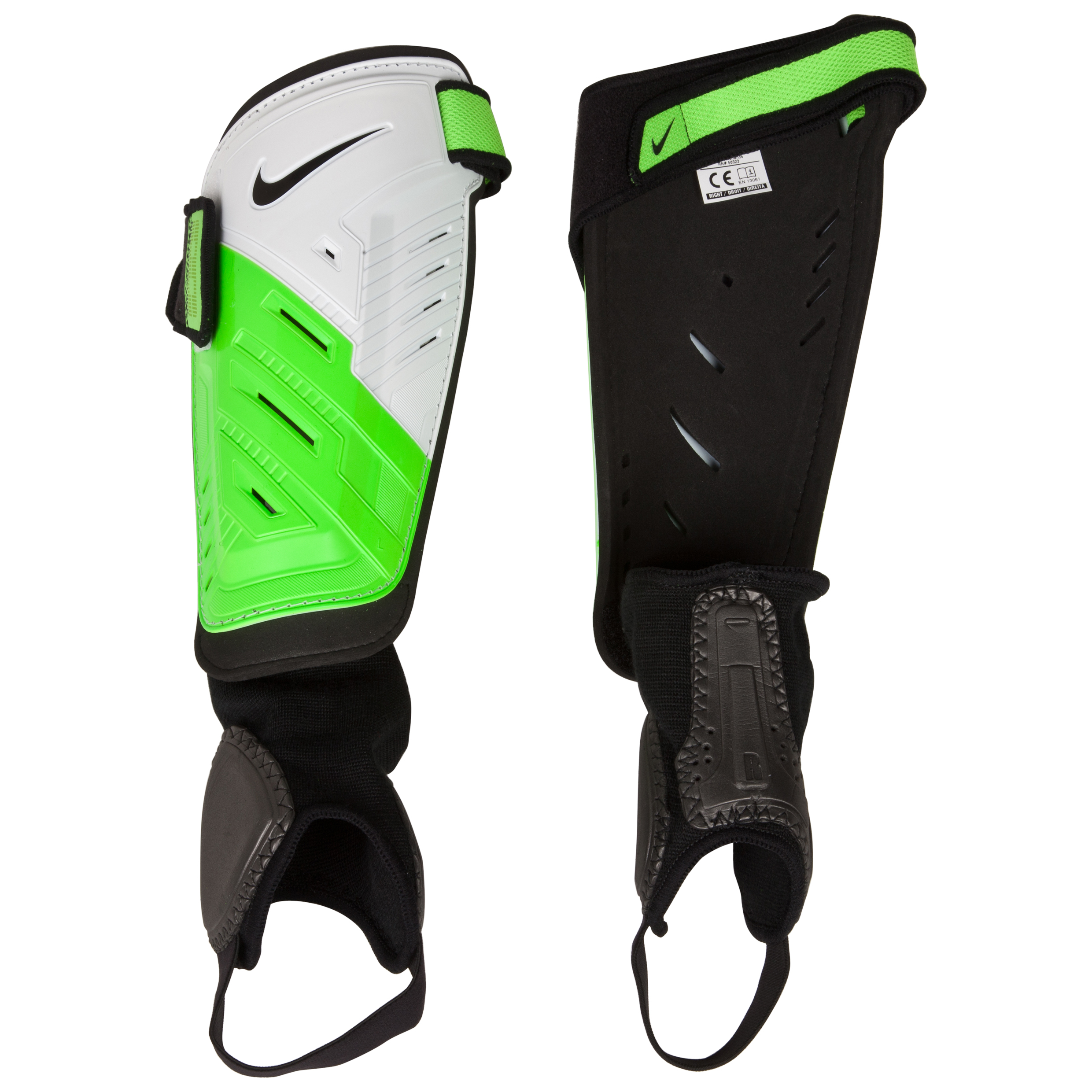 Nike Protegga Shield Shin Pads - White/Green/Black/