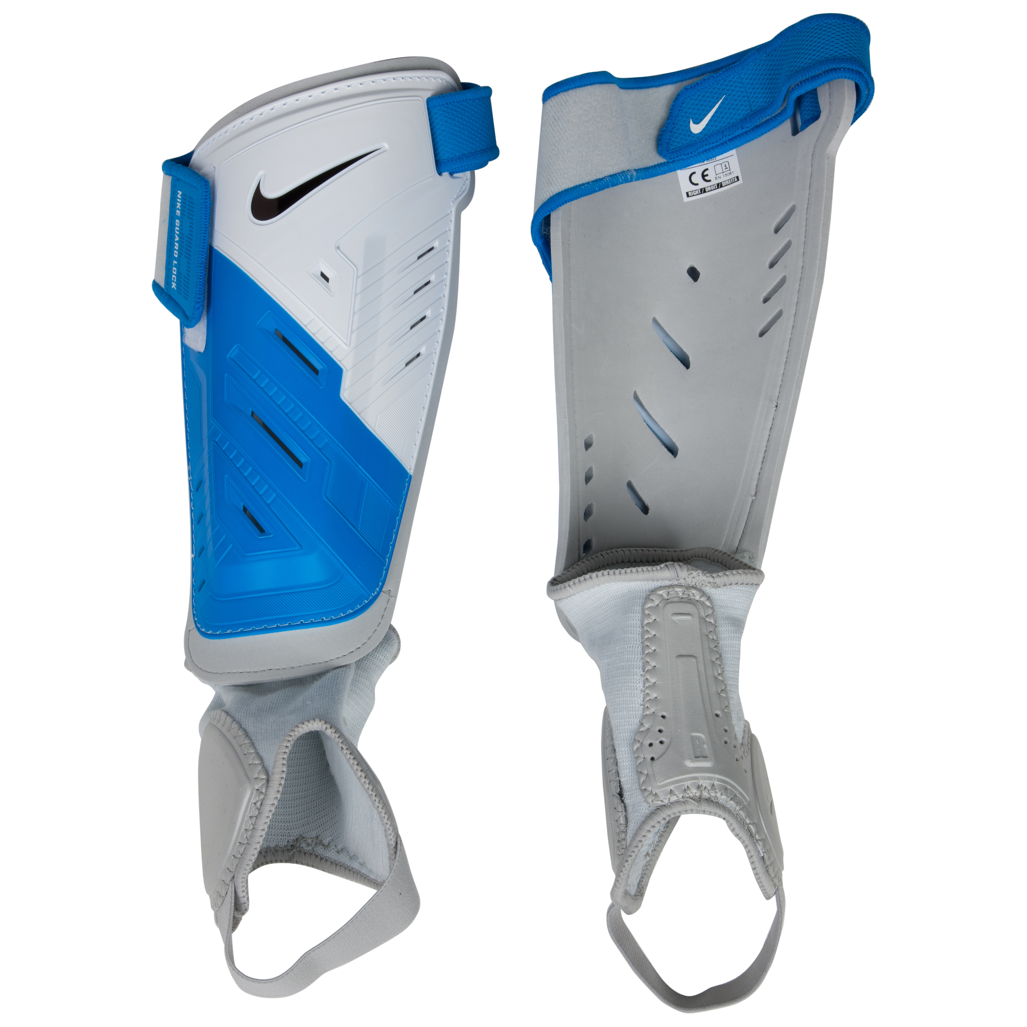 Nike Protegga Shield Shin Pads - White/Blue/Black/