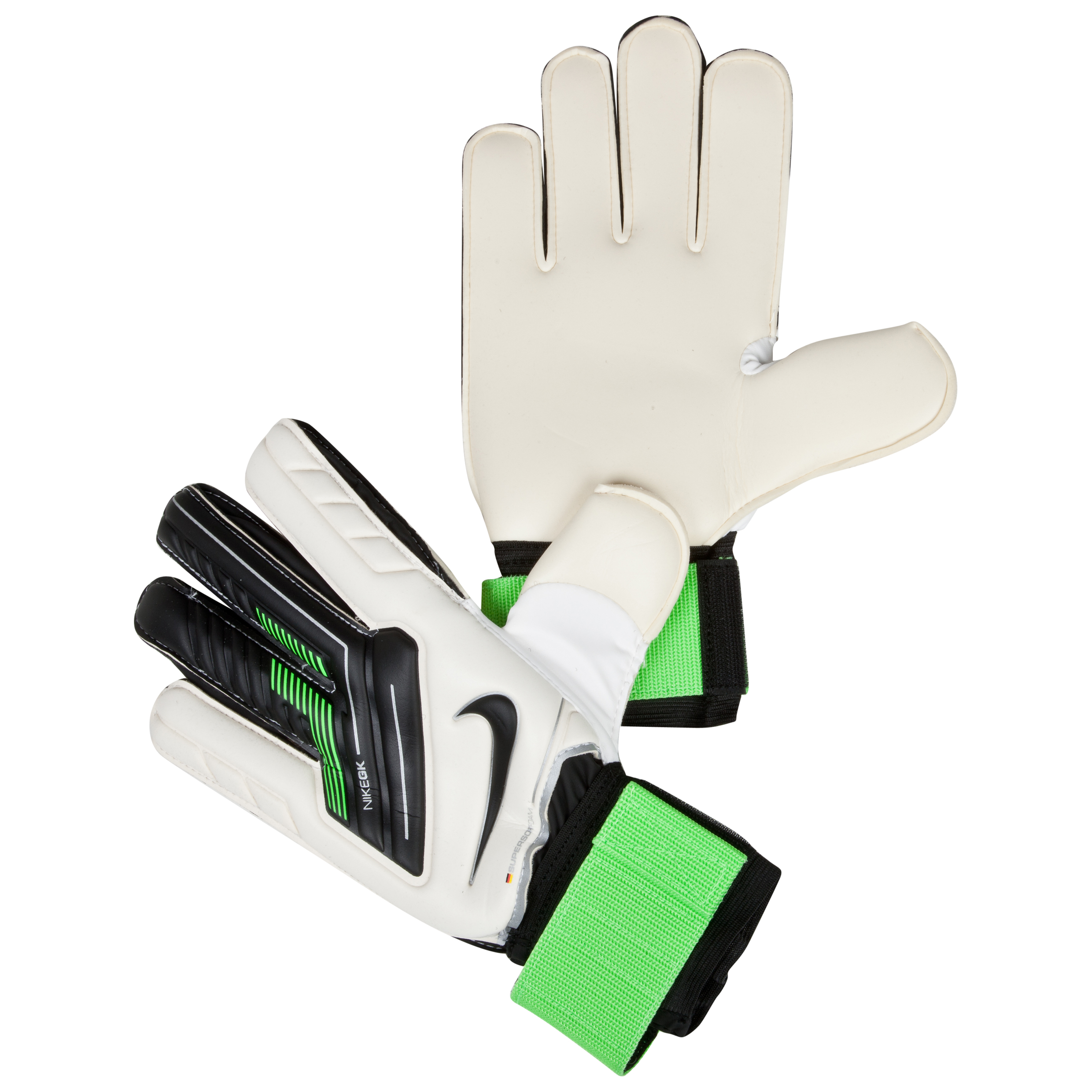 Nike Spyne Pro Gloves - White/Green/Black