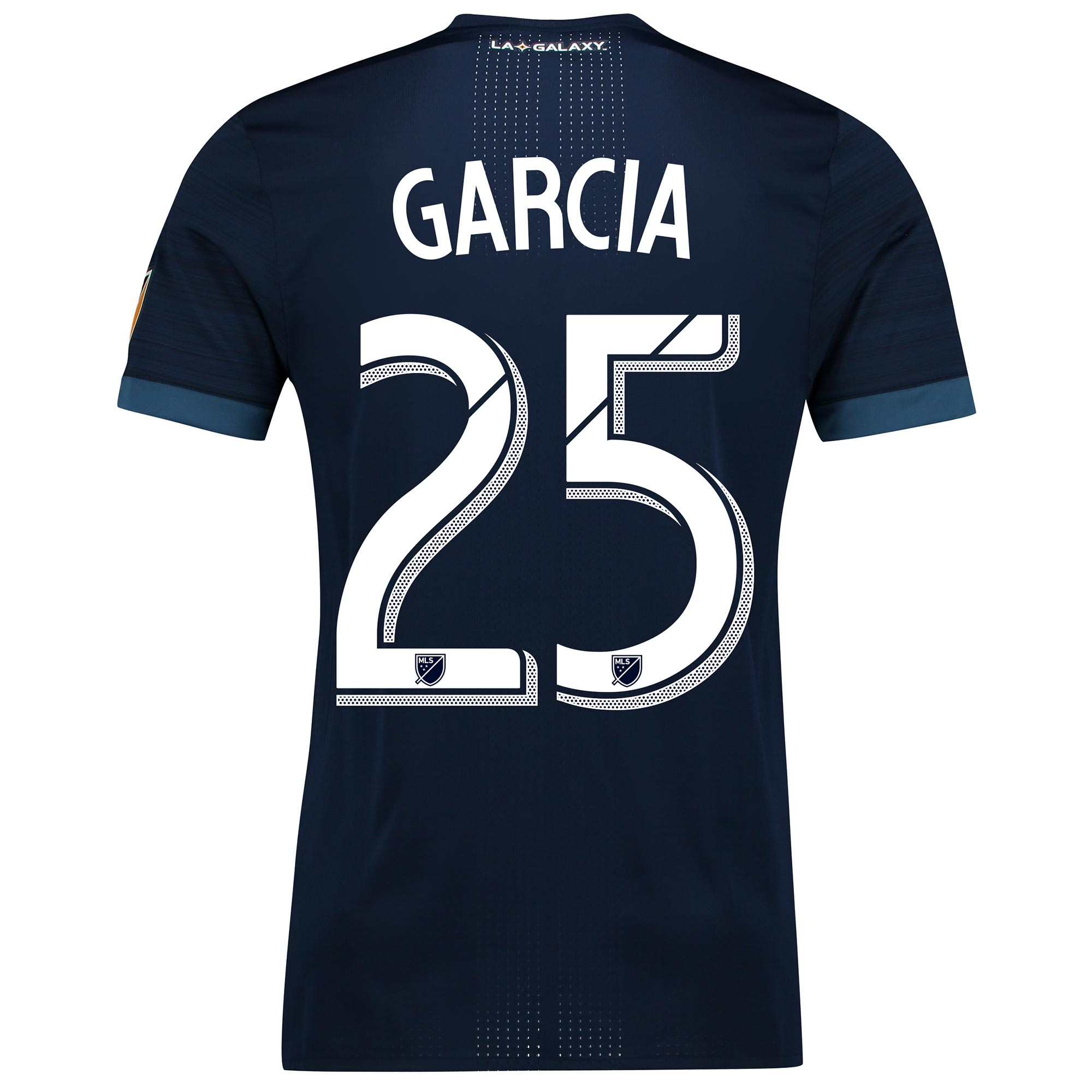 LA Galaxy Authentic Away Shirt 2017-18 with Garcia 25 printing, N/A