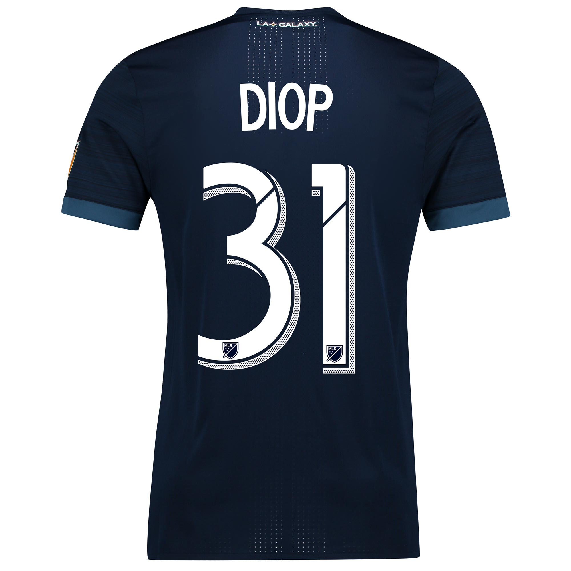 LA Galaxy Authentic Away Shirt 2017-18 with Diop 31 printing, N/A