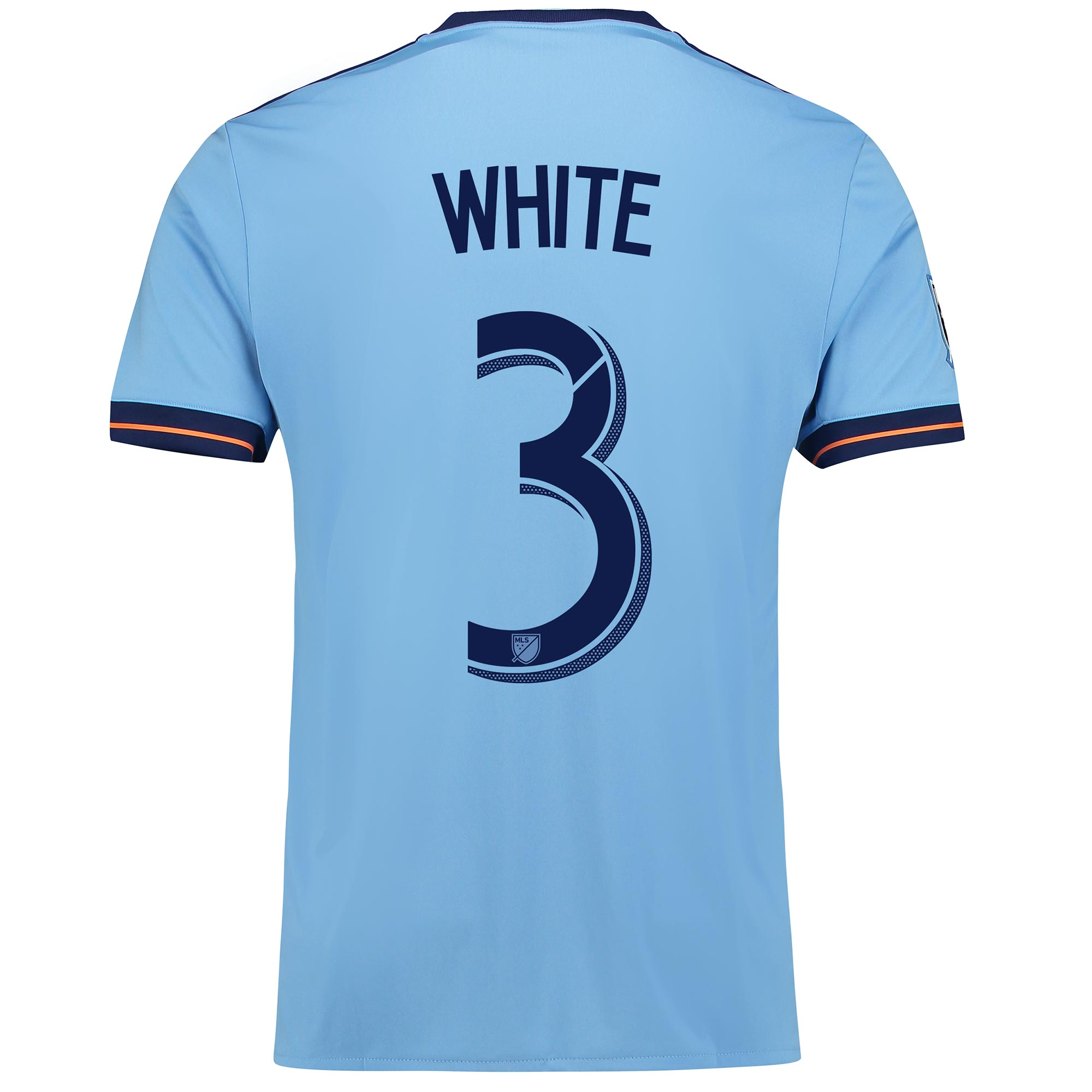 New York City FC Home Shirt 2017-18 with White 3 printing