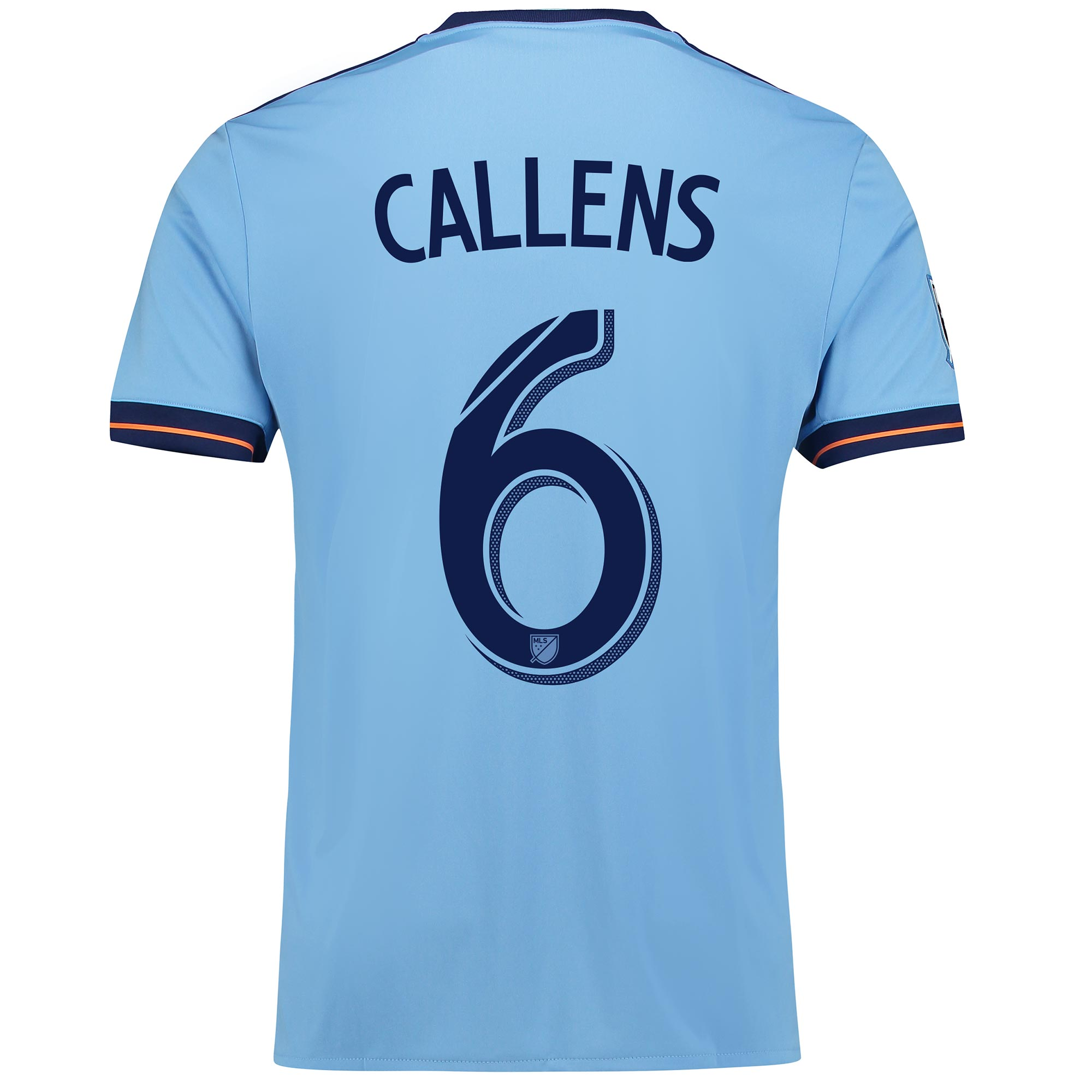 New York City FC Home Shirt 2017-18 with Callens 6 printing