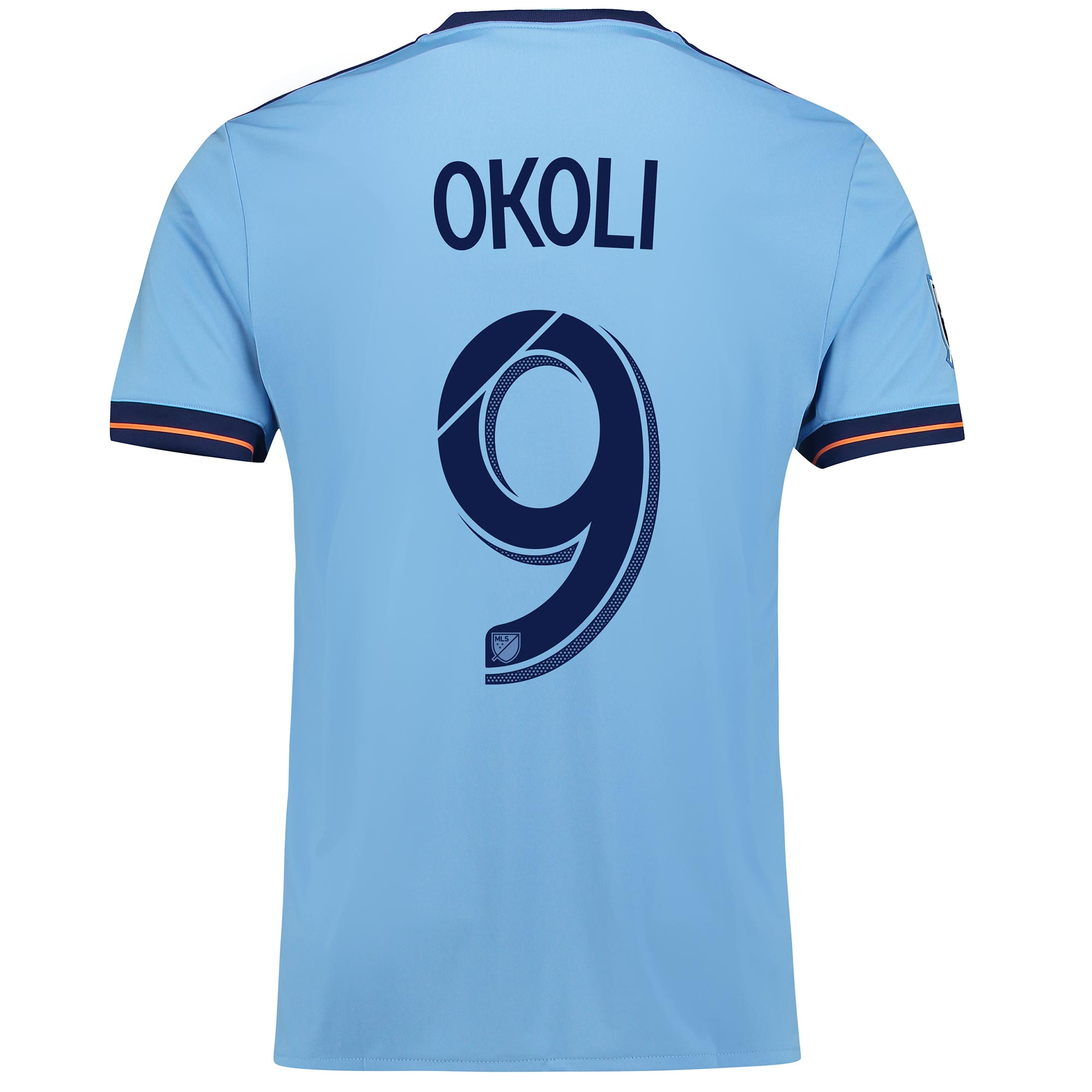 New York City FC Home Shirt 2017-18 with Okoli 9 printing