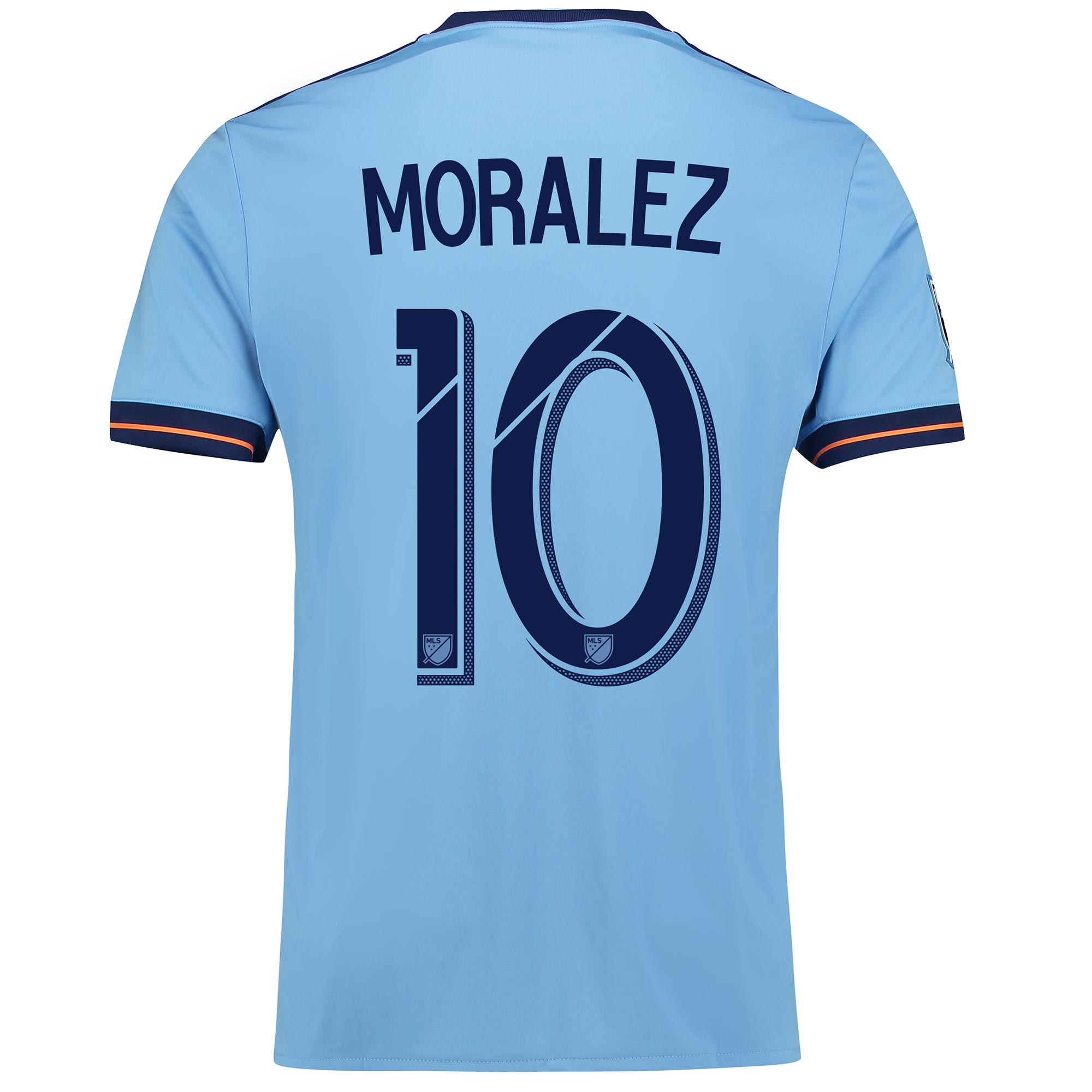 New York City FC Home Shirt 2017-18 with Moralez 10 printing