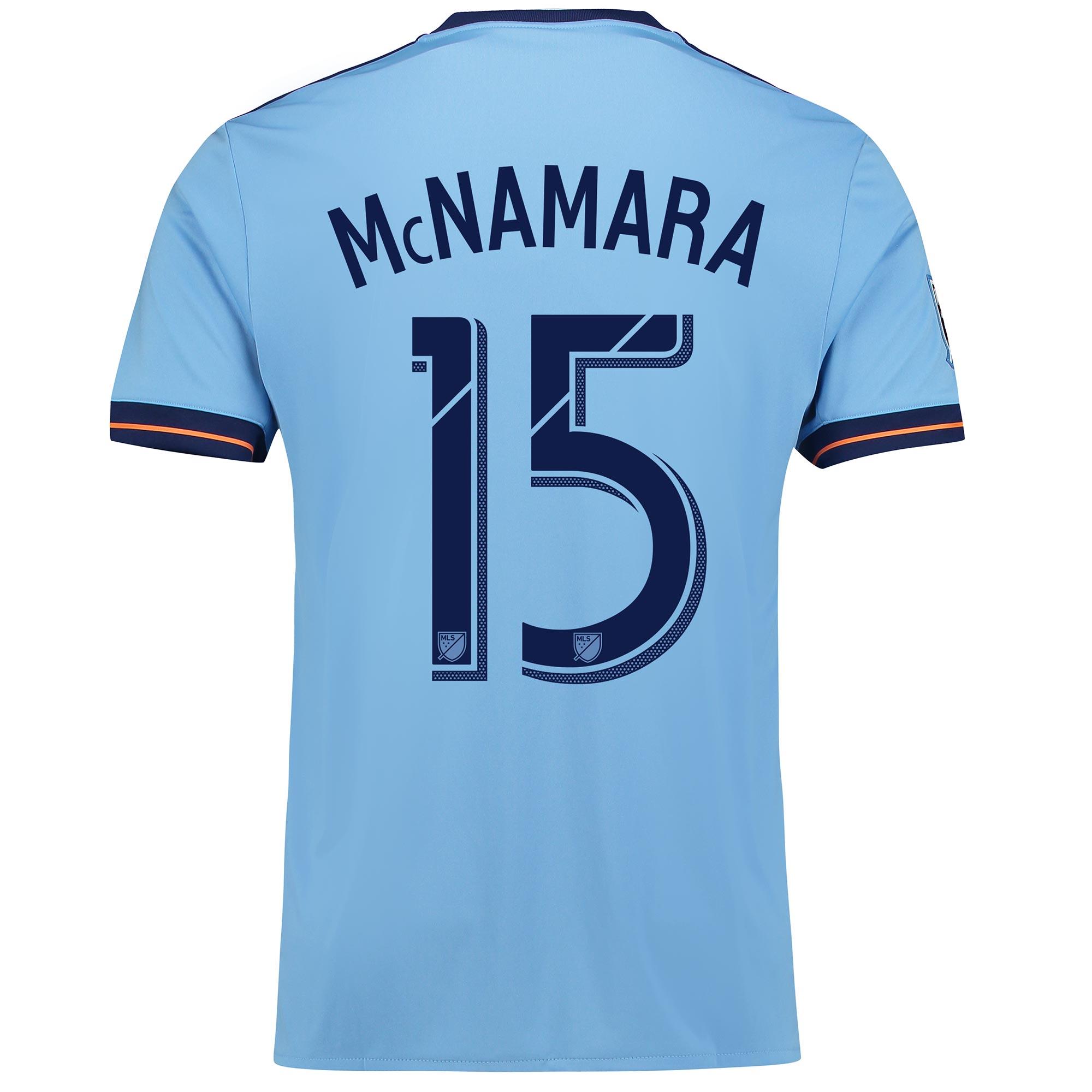 New York City FC Home Shirt 2017-18 with McNamara 15 printing