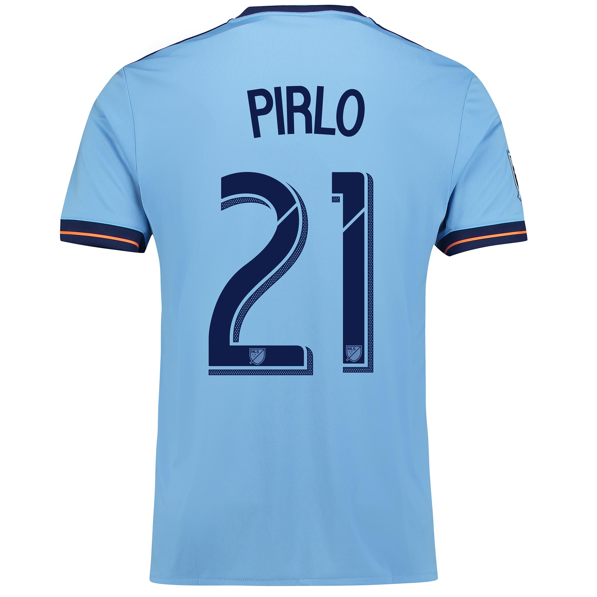 New York City FC Home Shirt 2017-18 with Pirlo 21 printing