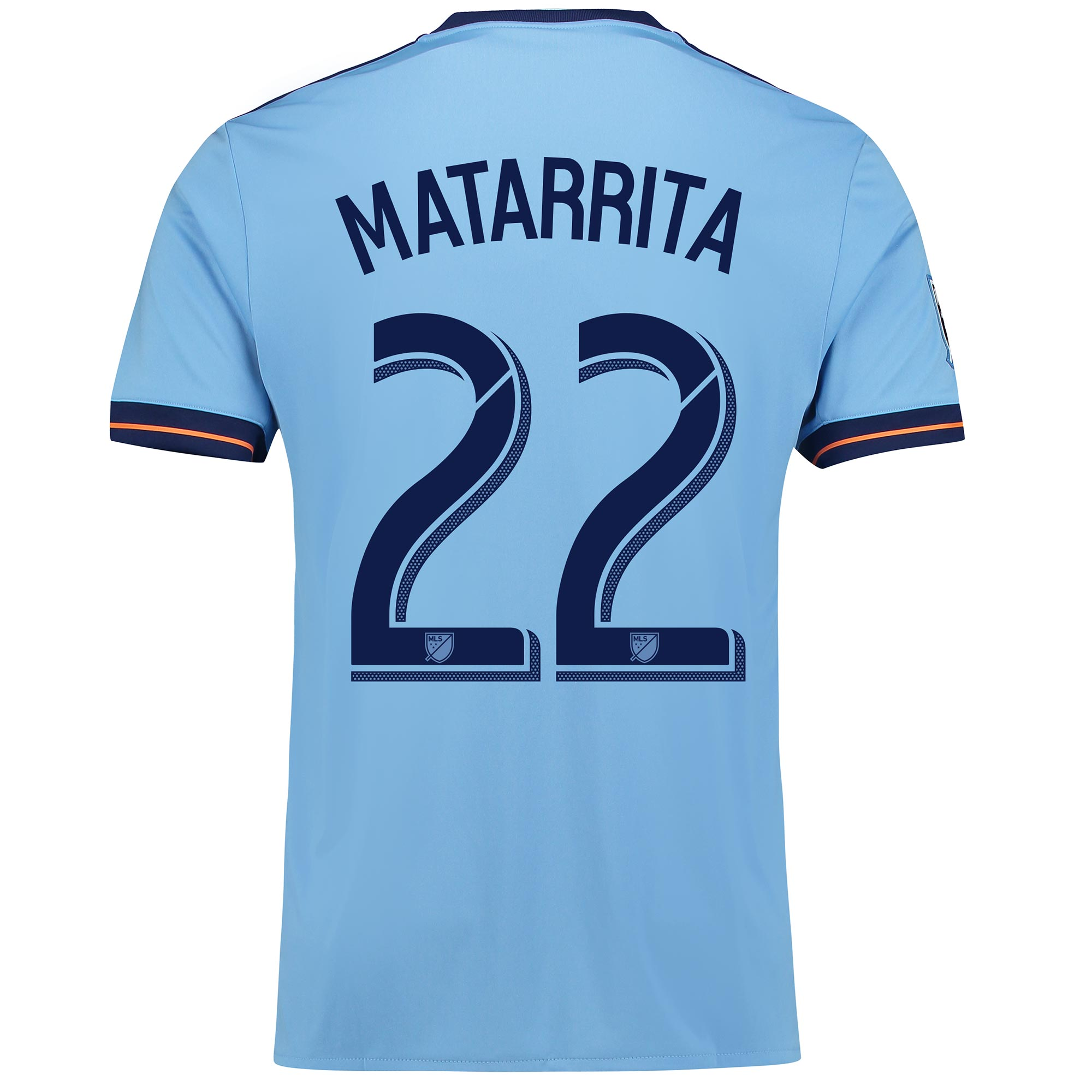 New York City FC Home Shirt 2017-18 with Matarrita 22 printing