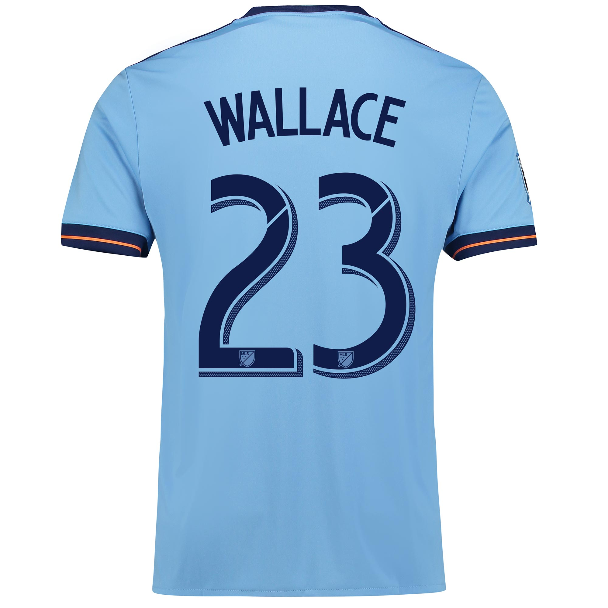 New York City FC Home Shirt 2017-18 with Wallace 23 printing