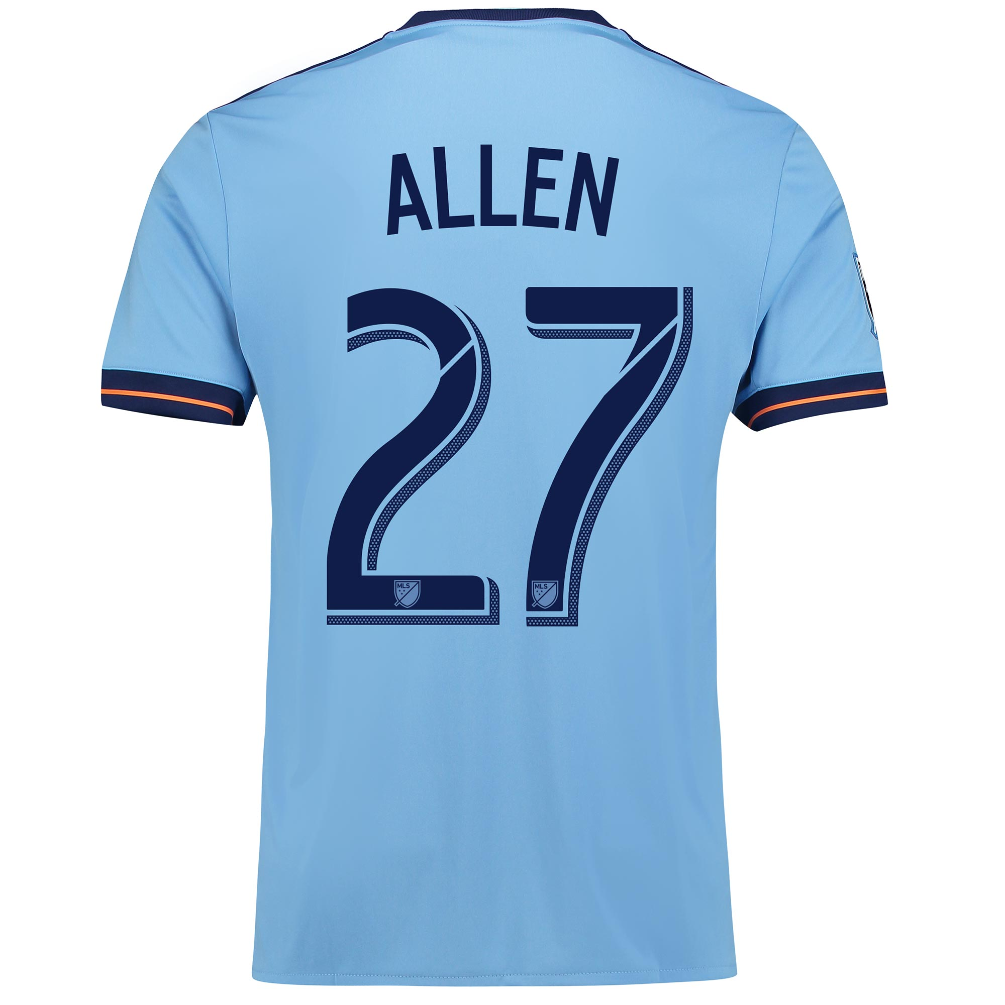 New York City FC Home Shirt 2017-18 with Allen 27 printing