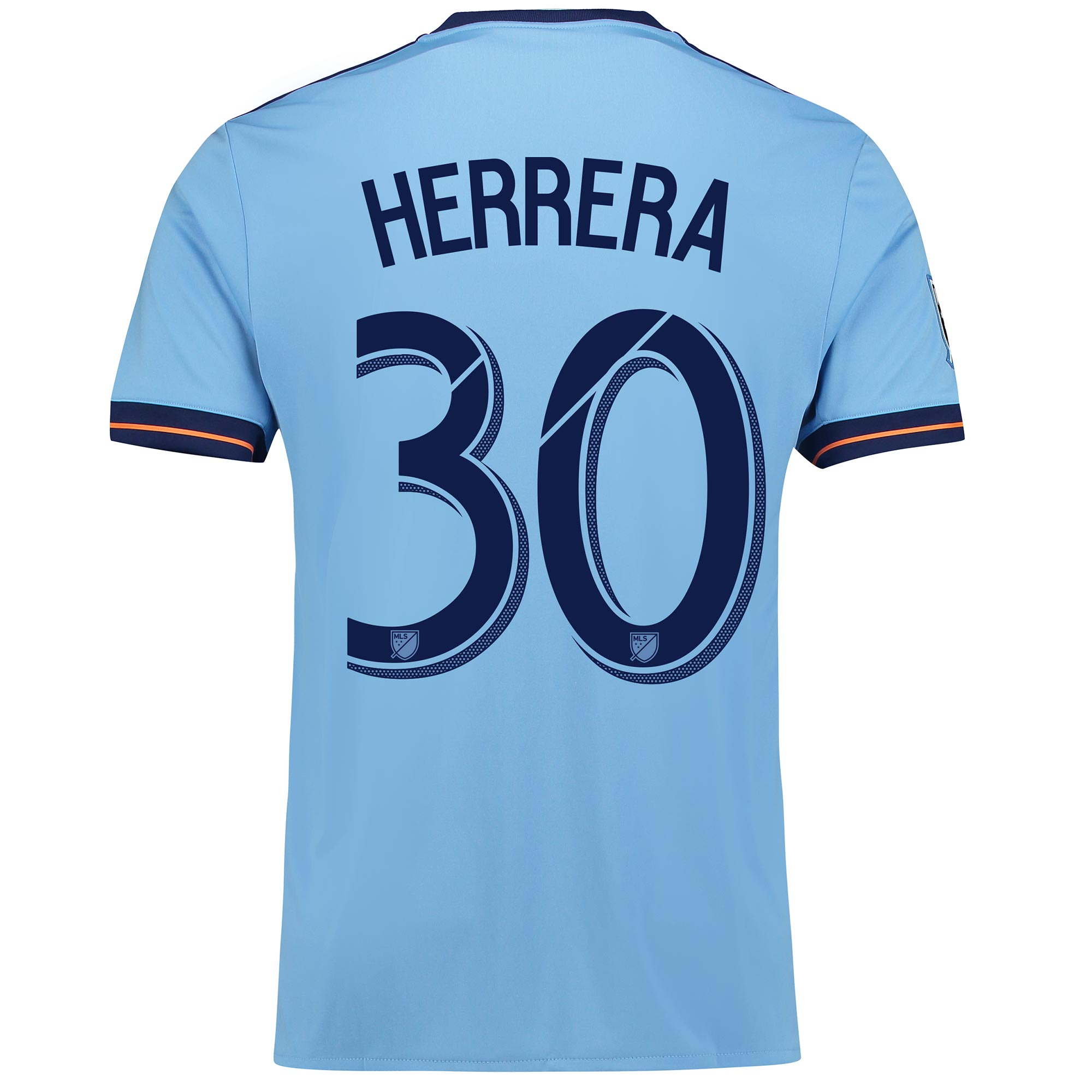 New York City FC Home Shirt 2017-18 with Herrera 30 printing