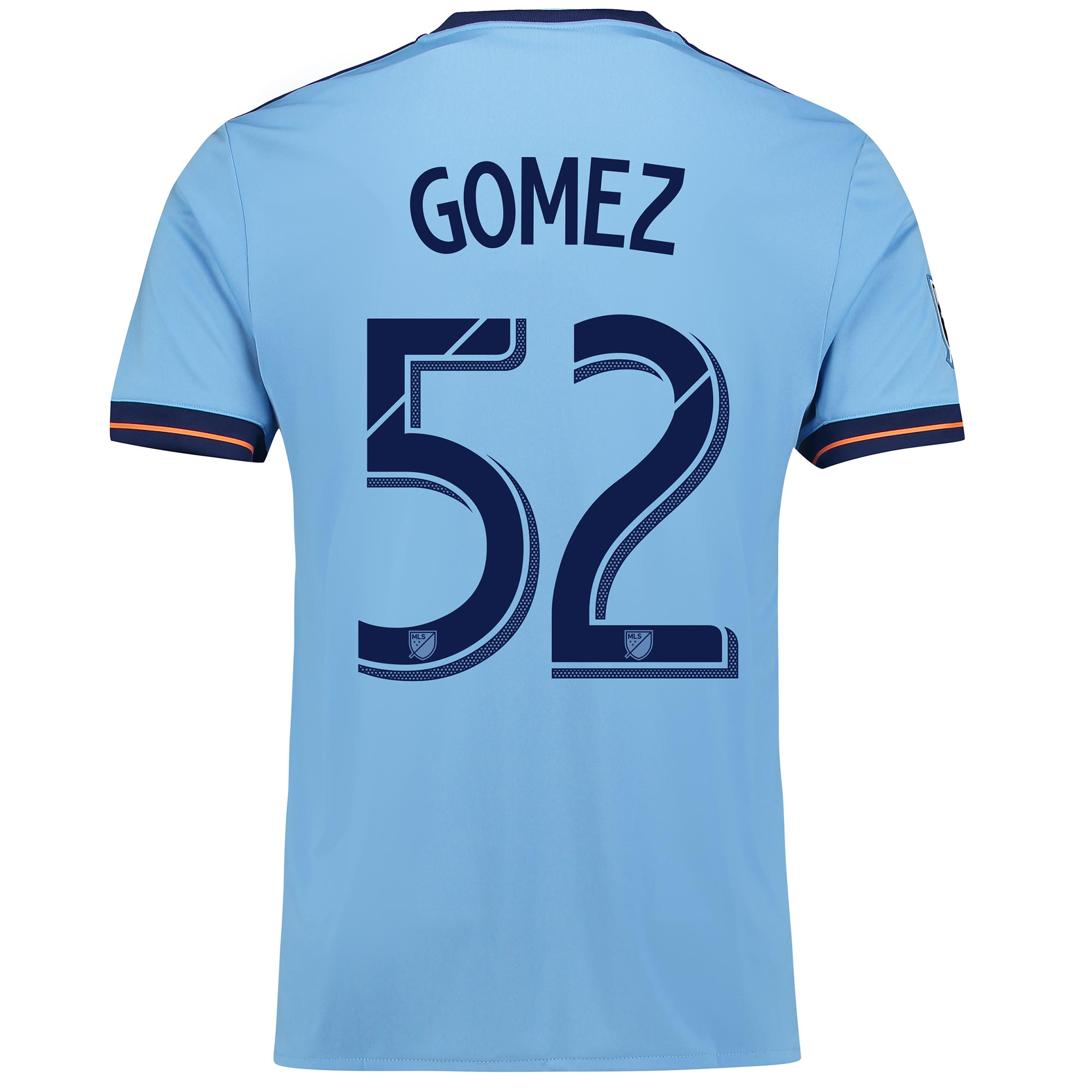 New York City FC Home Shirt 2017-18 with Gomez 52 printing