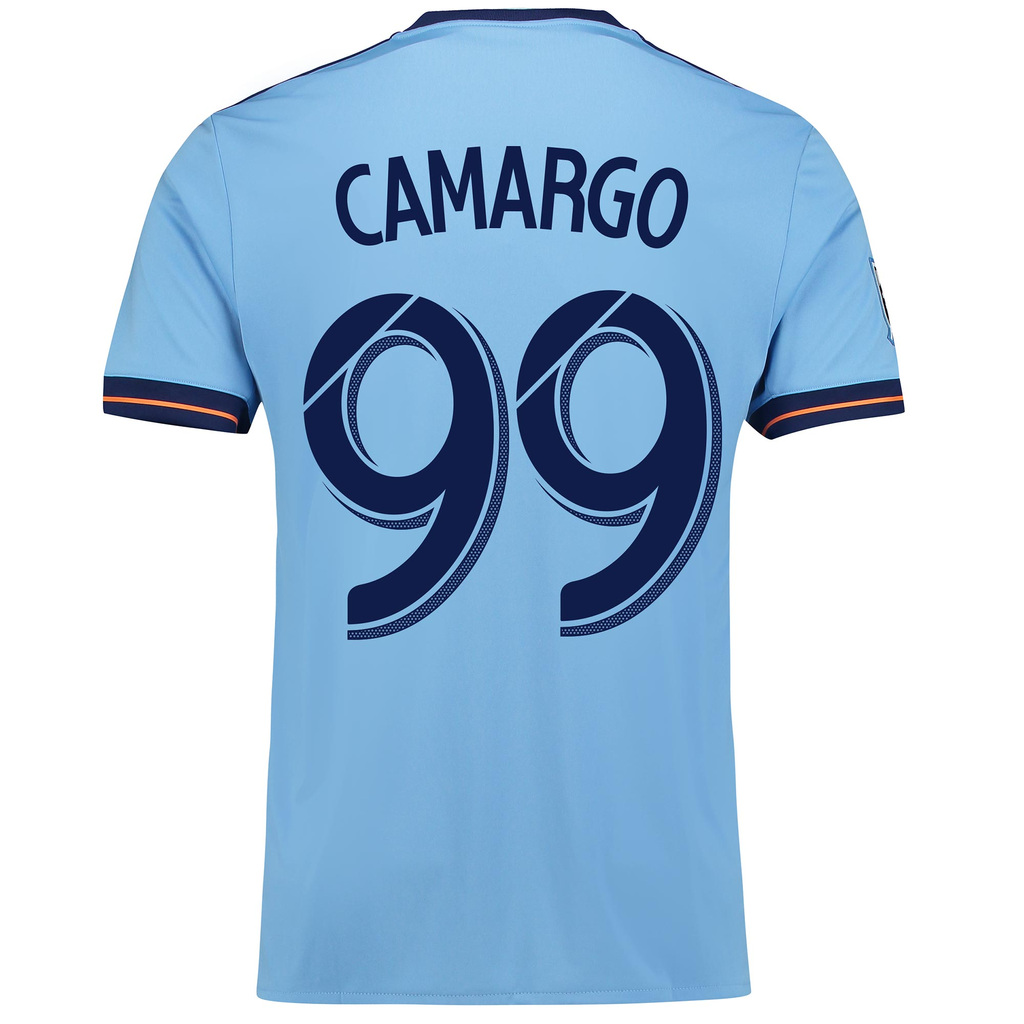 New York City FC Home Shirt 2017-18 with Camargo 99 printing
