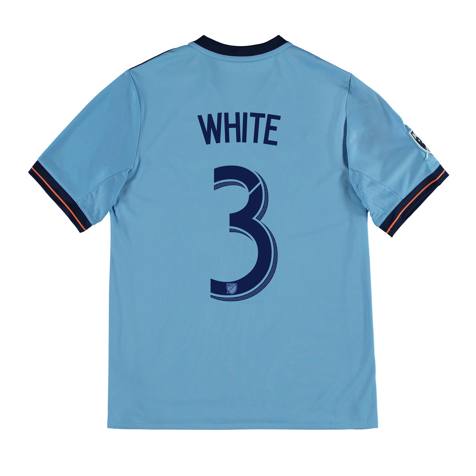 New York City FC Home Shirt 2017-18 - Kids with White 3 printing