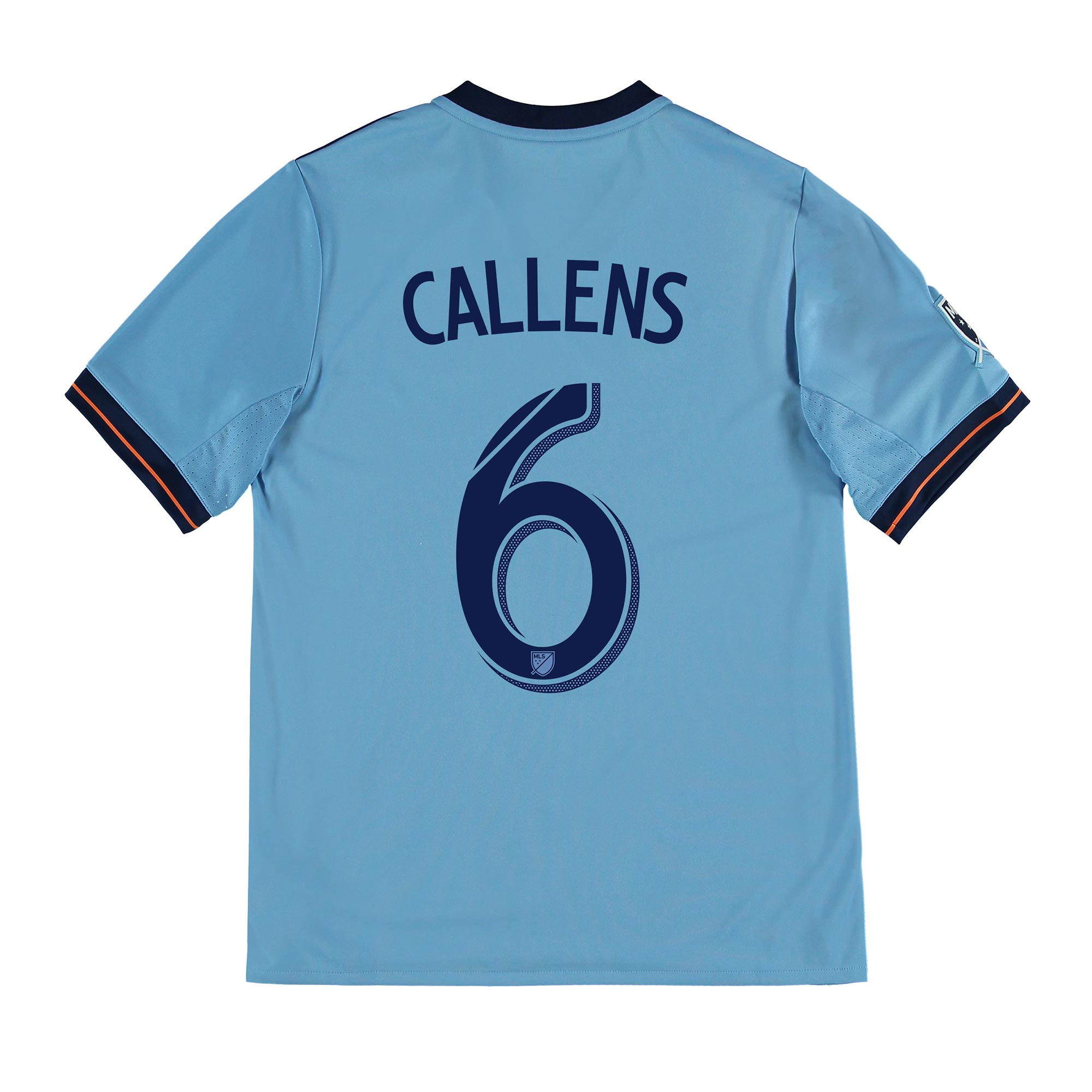 New York City FC Home Shirt 2017-18 - Kids with Callens 6 printing