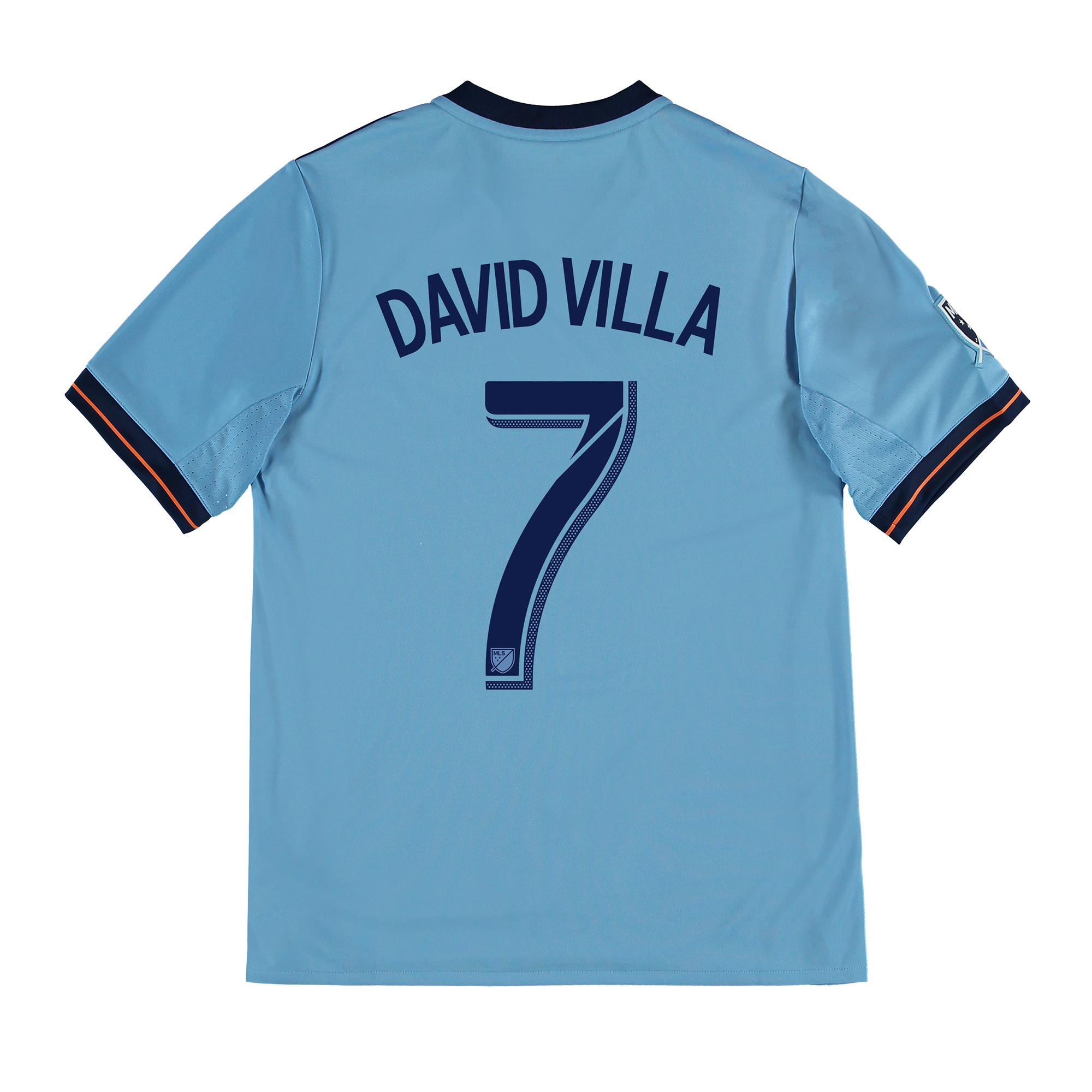 New York City FC Home Shirt 2017-18 - Kids with David Villa 7 printing