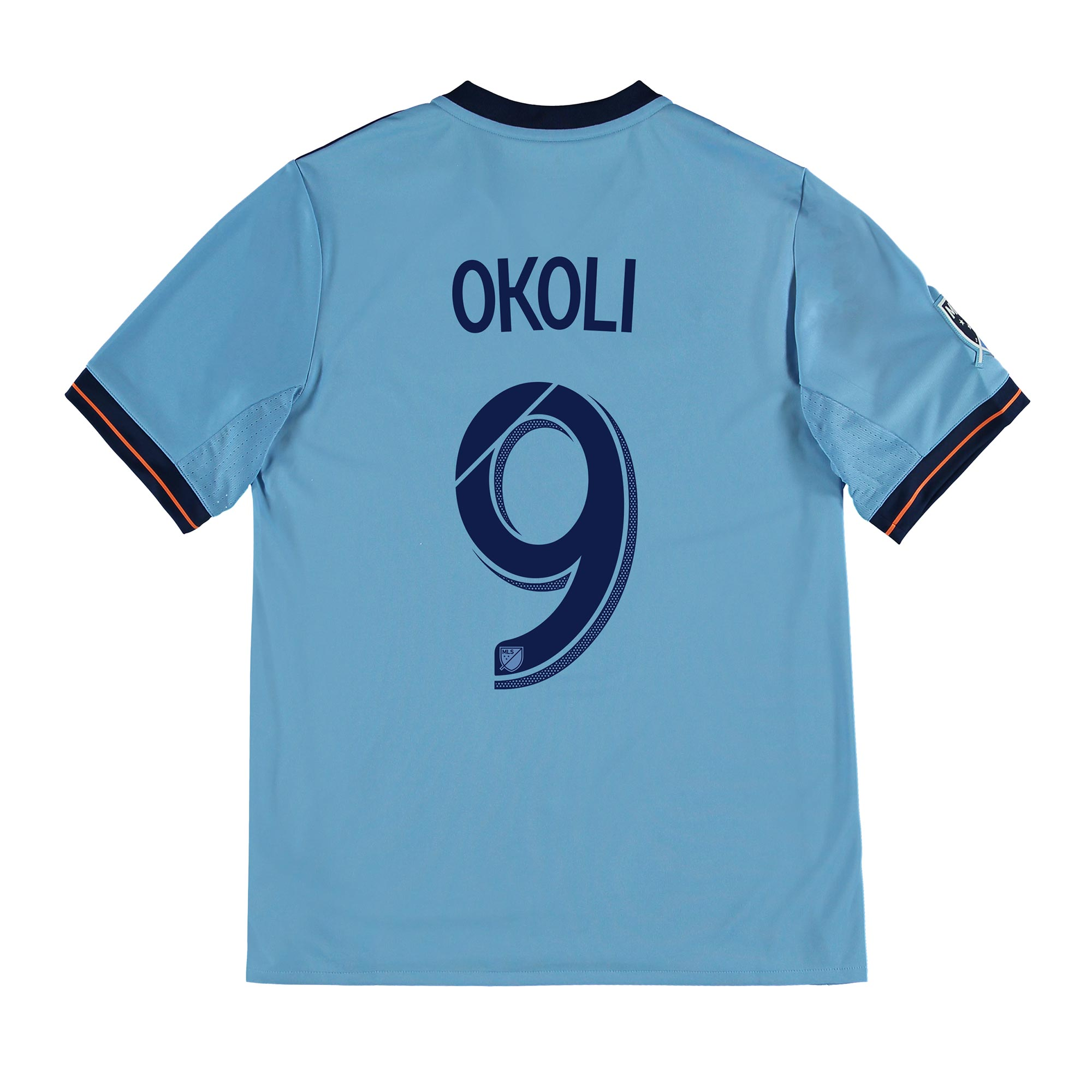 New York City FC Home Shirt 2017-18 - Kids with Okoli 9 printing