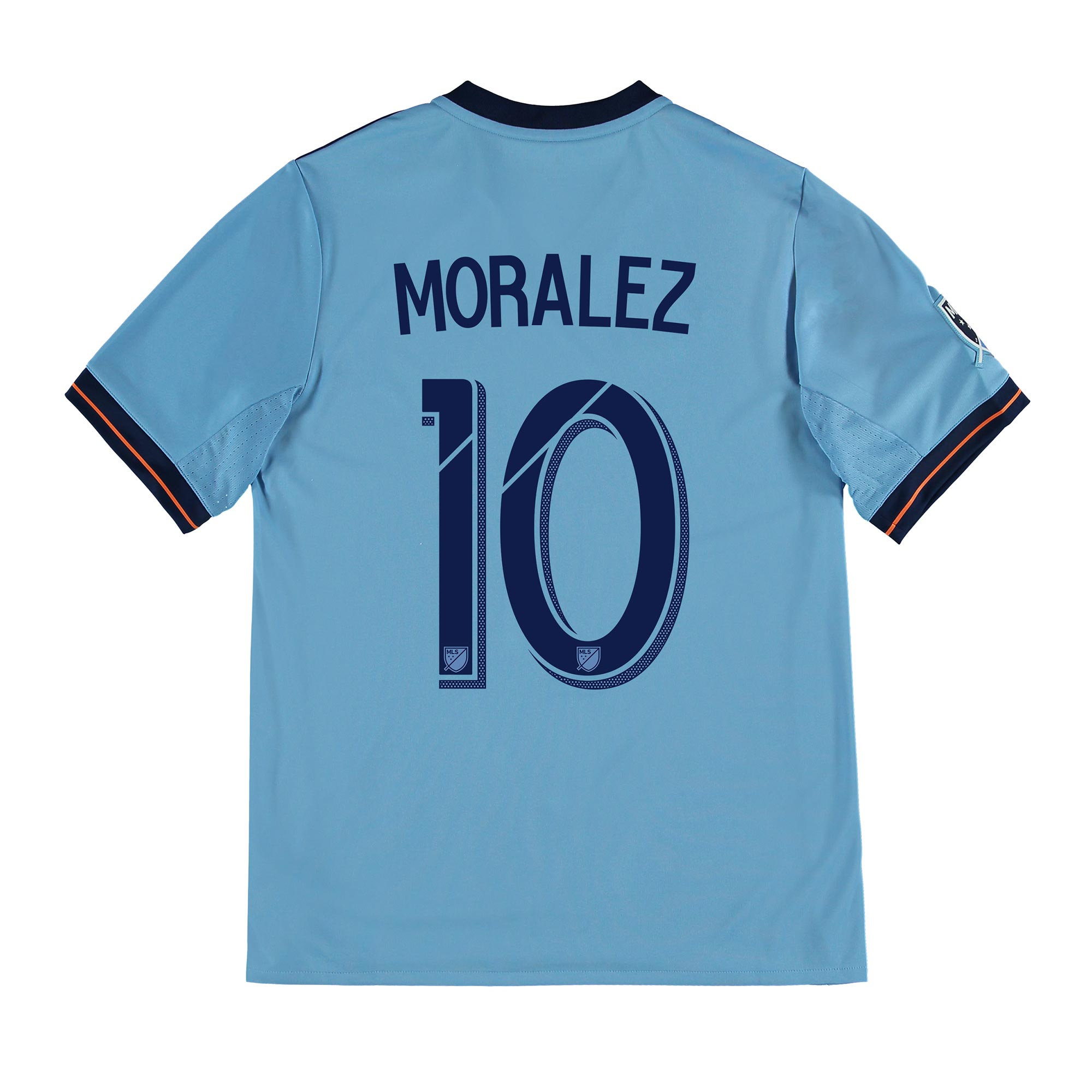 New York City FC Home Shirt 2017-18 - Kids with Moralez 10 printing