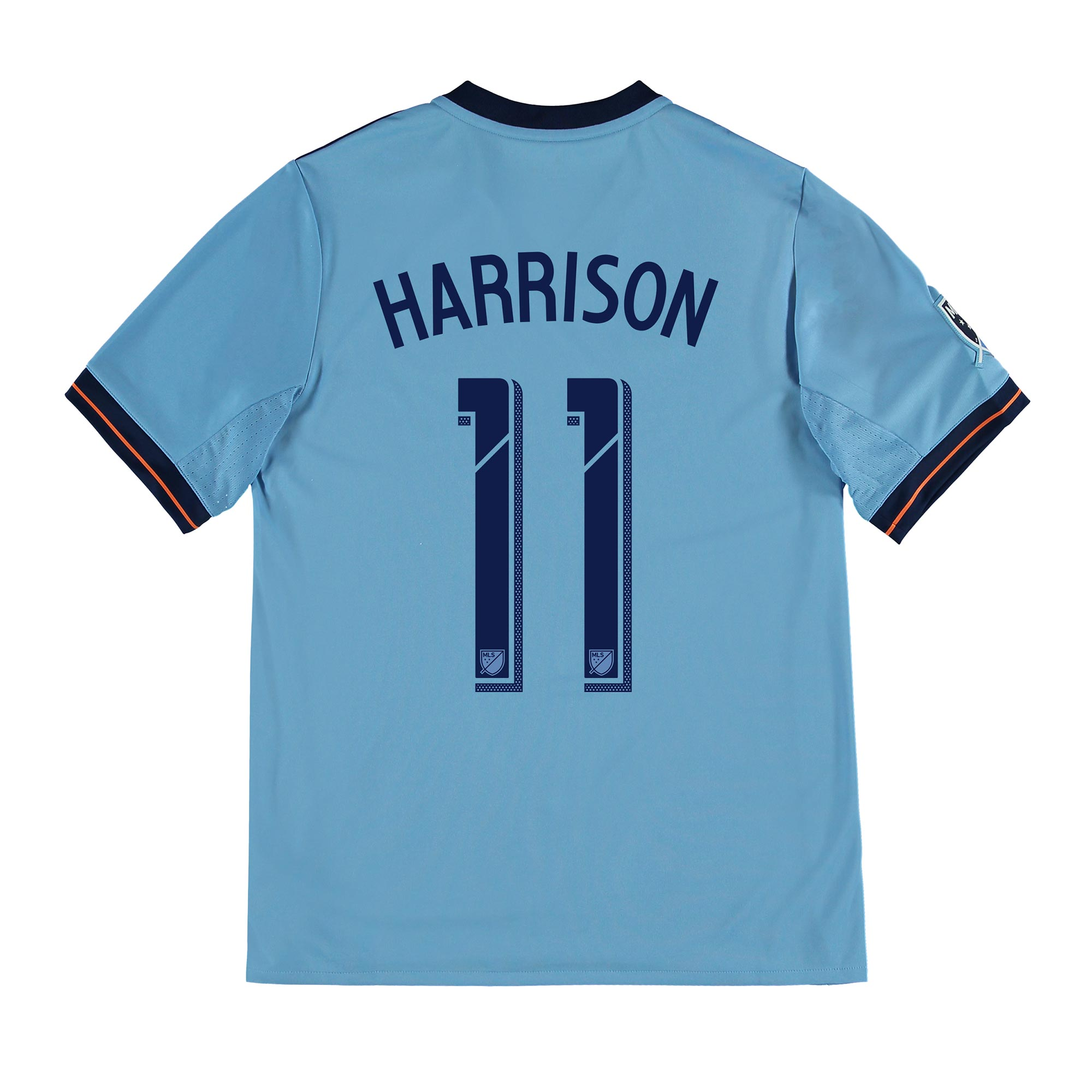 New York City FC Home Shirt 2017-18 - Kids with Harrison 11 printing