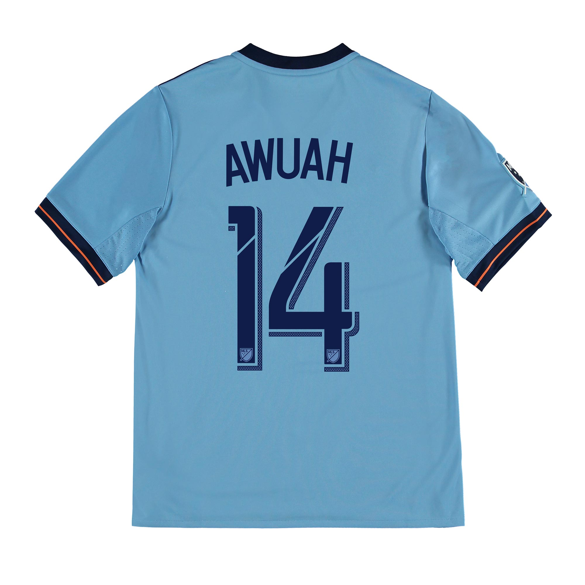 New York City FC Home Shirt 2017-18 - Kids with Awuah 14 printing