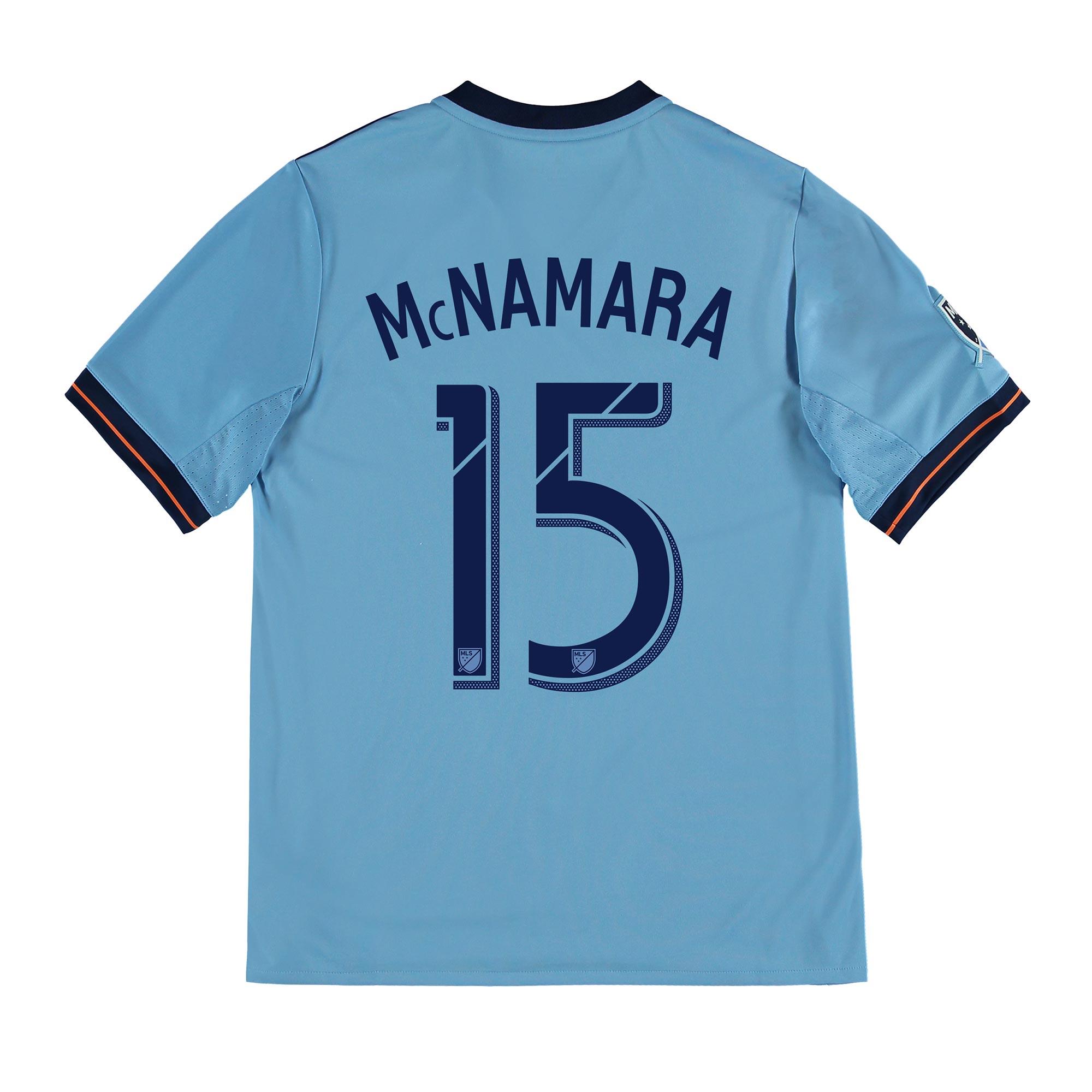 New York City FC Home Shirt 2017-18 - Kids with McNamara 15 printing