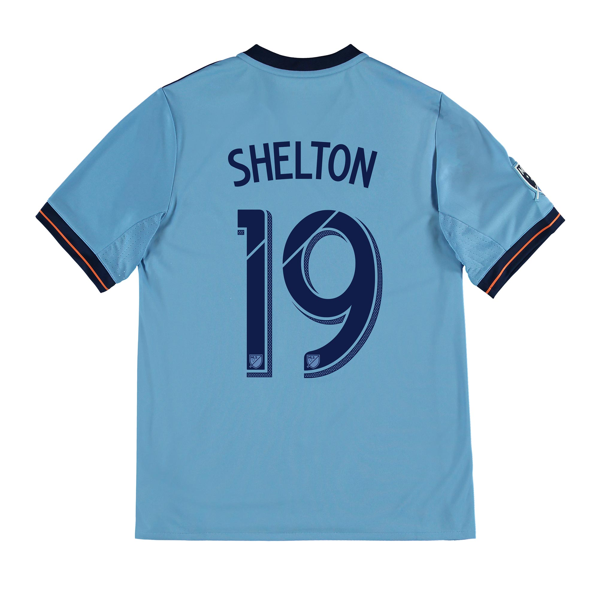 New York City FC Home Shirt 2017-18 - Kids with Shelton 19 printing