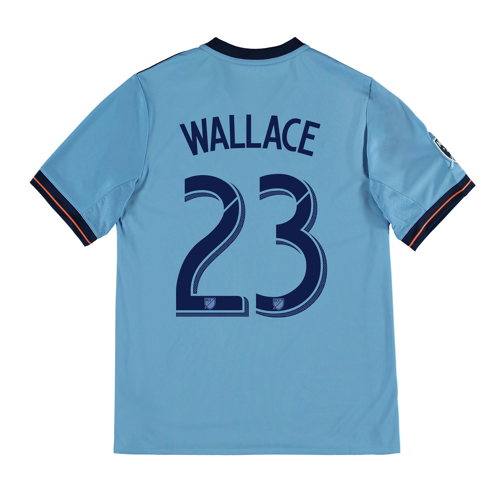 New York City FC Home Shirt 2017-18 - Kids with Wallace 23 printing