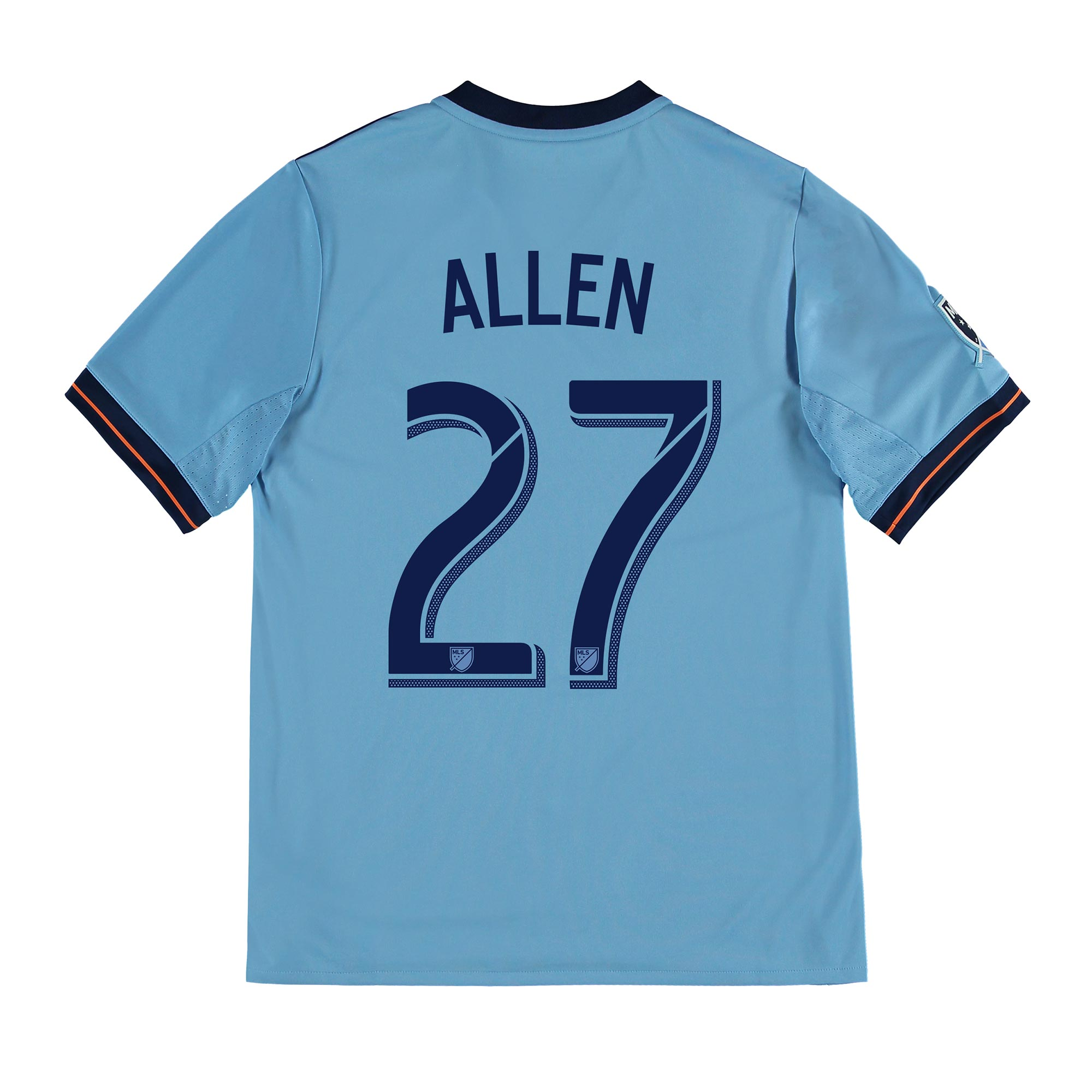 New York City FC Home Shirt 2017-18 - Kids with Allen 27 printing