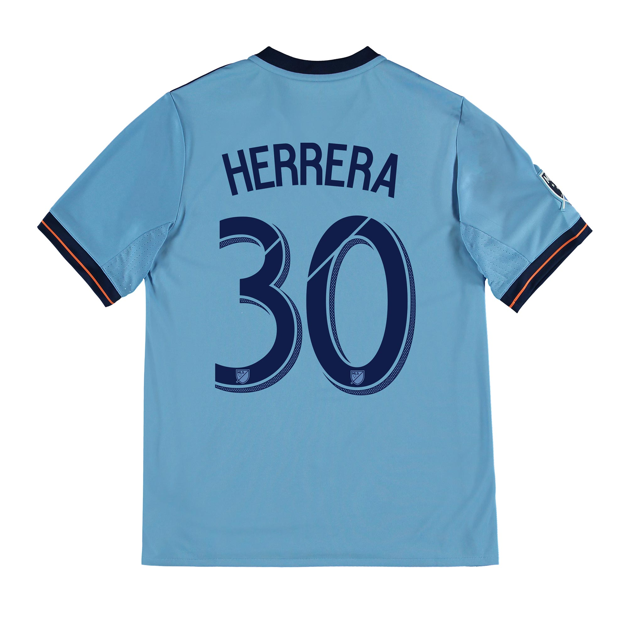 New York City FC Home Shirt 2017-18 - Kids with Herrera 30 printing
