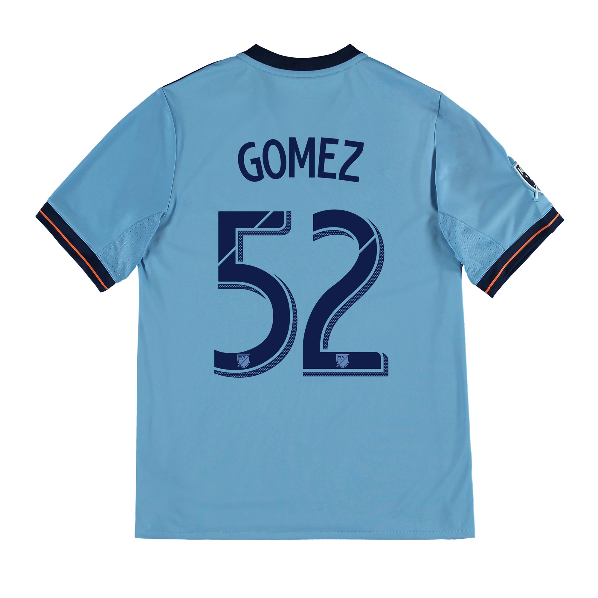 New York City FC Home Shirt 2017-18 - Kids with Gomez 52 printing