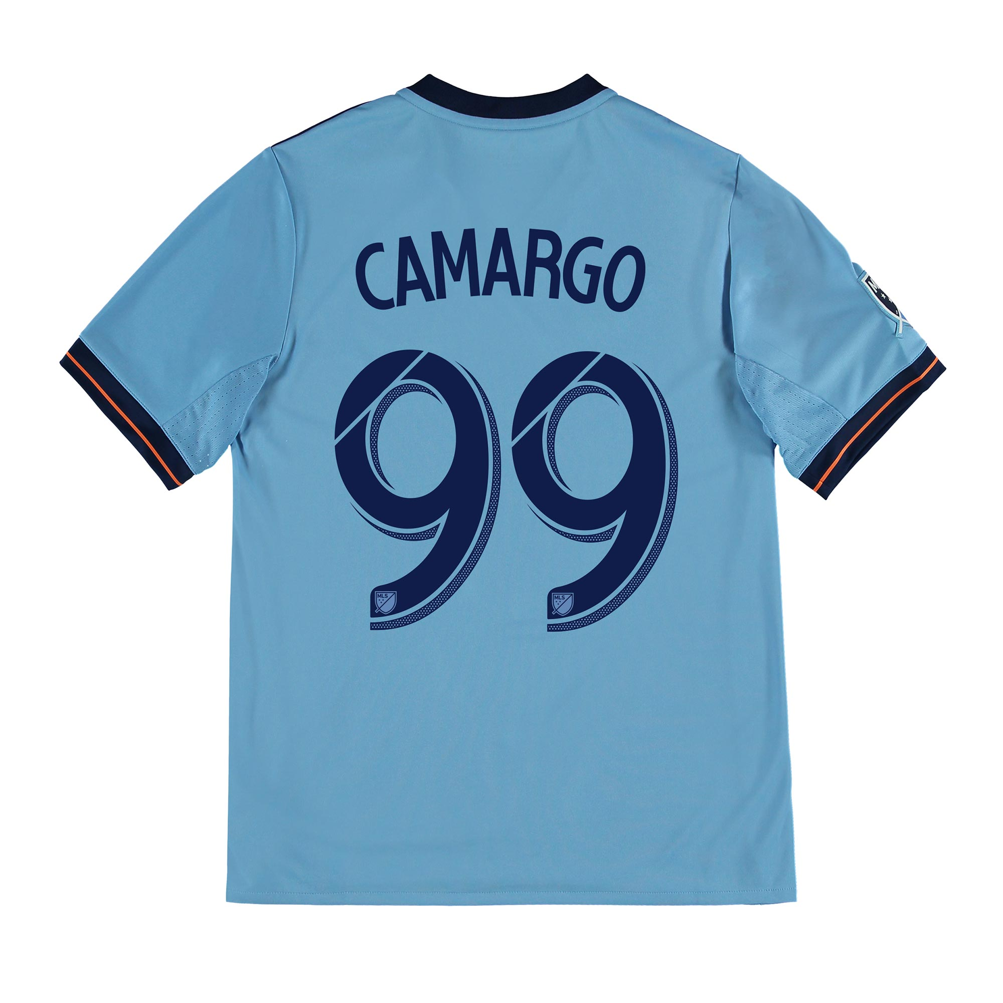 New York City FC Home Shirt 2017-18 - Kids with Camargo 99 printing