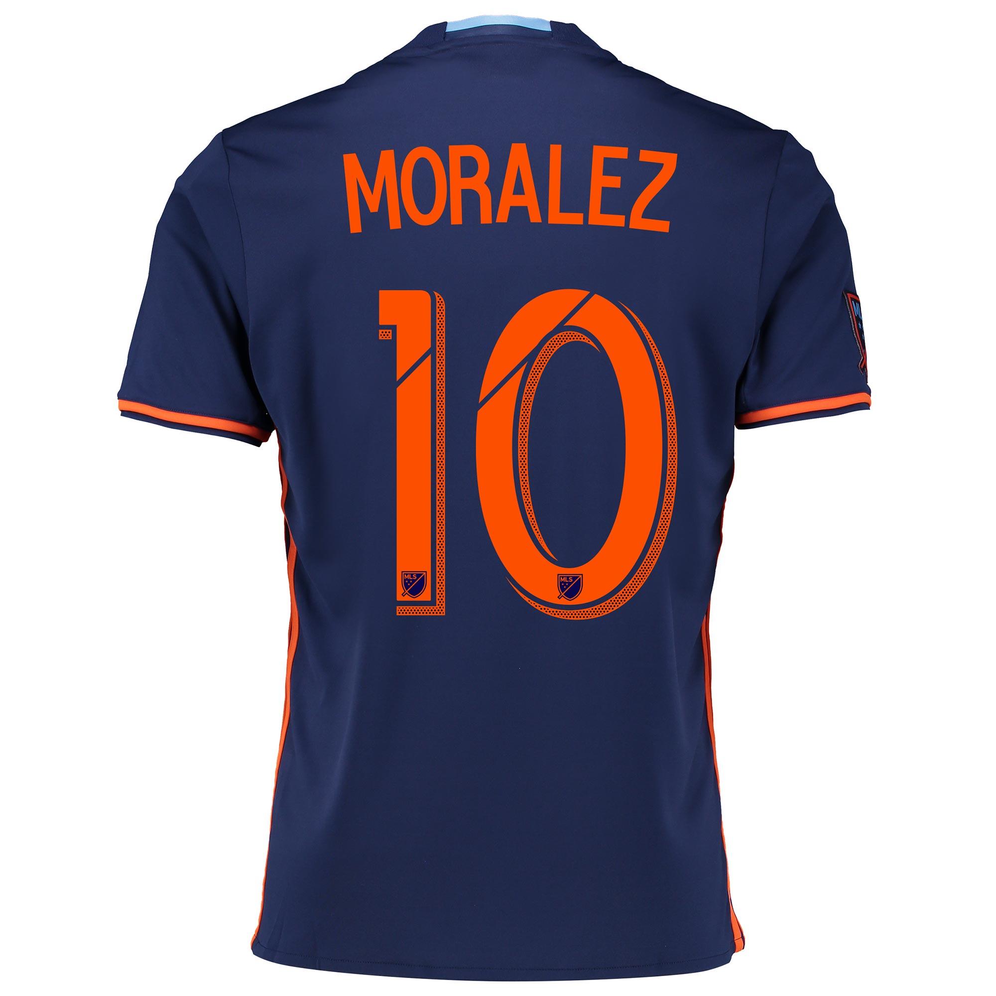 New York City FC Away Shirt 2016-17 with Moralez 10 printing