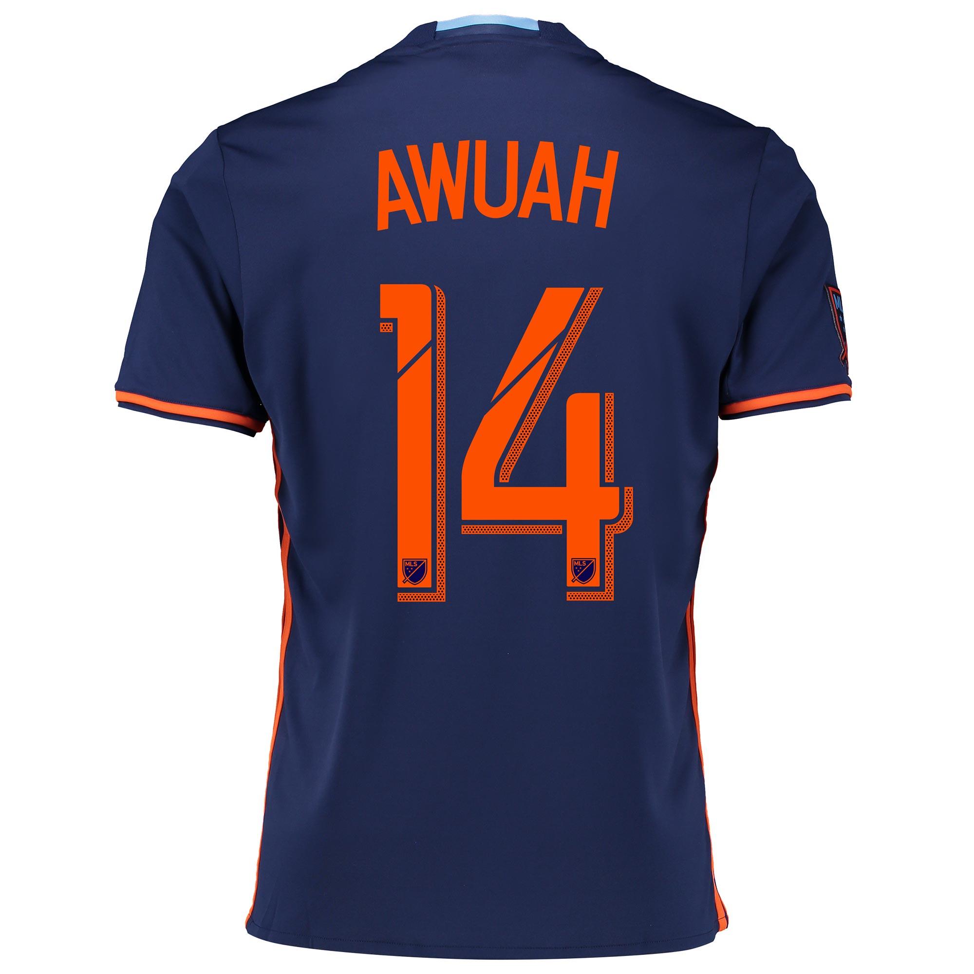 New York City FC Away Shirt 2016-17 with Awuah 14 printing
