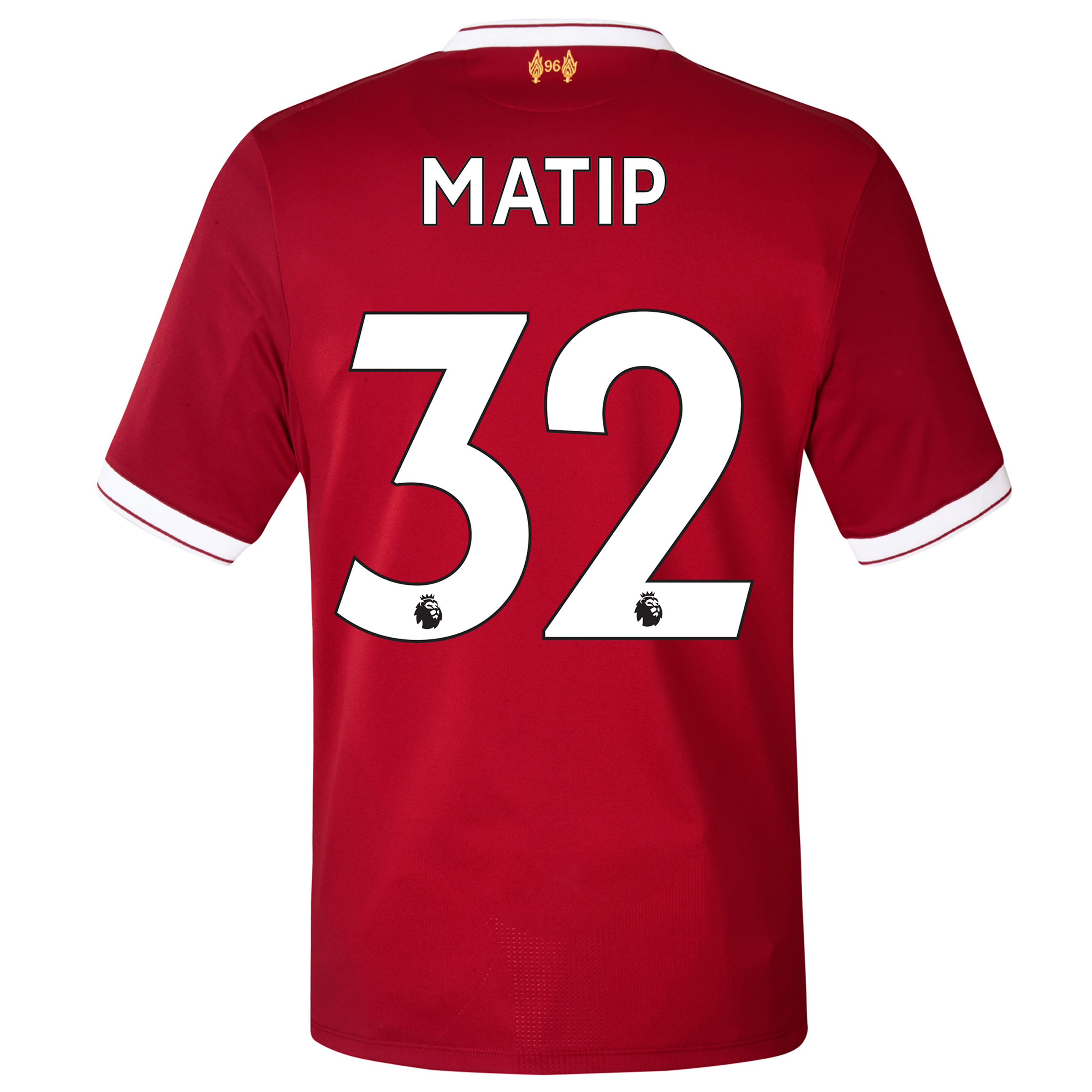 Liverpool Home Shirt 2017-18 with Matip 32 printing, Red