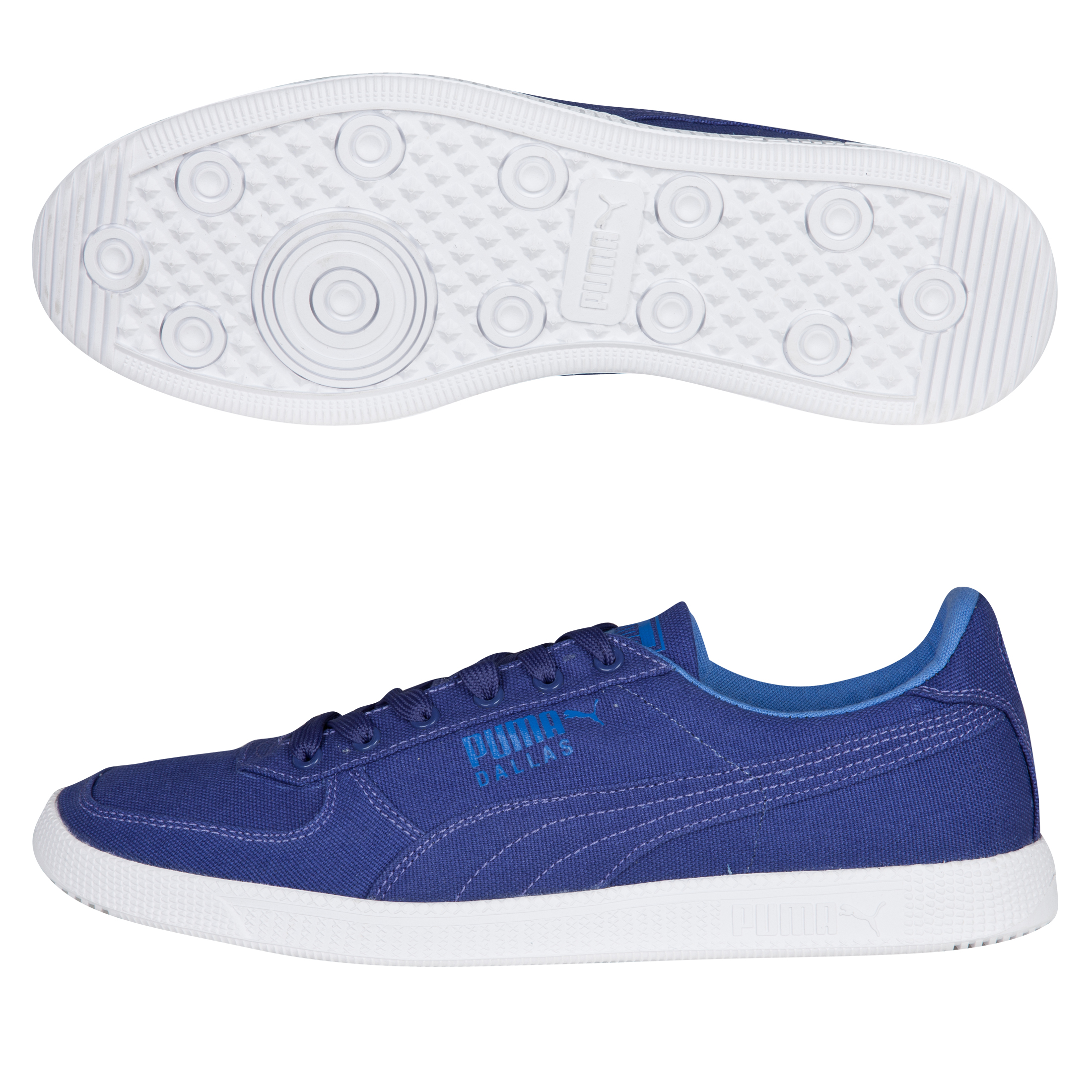 Puma Dallas Canvas Trainers - Navy Blue/Ceramic Green/White