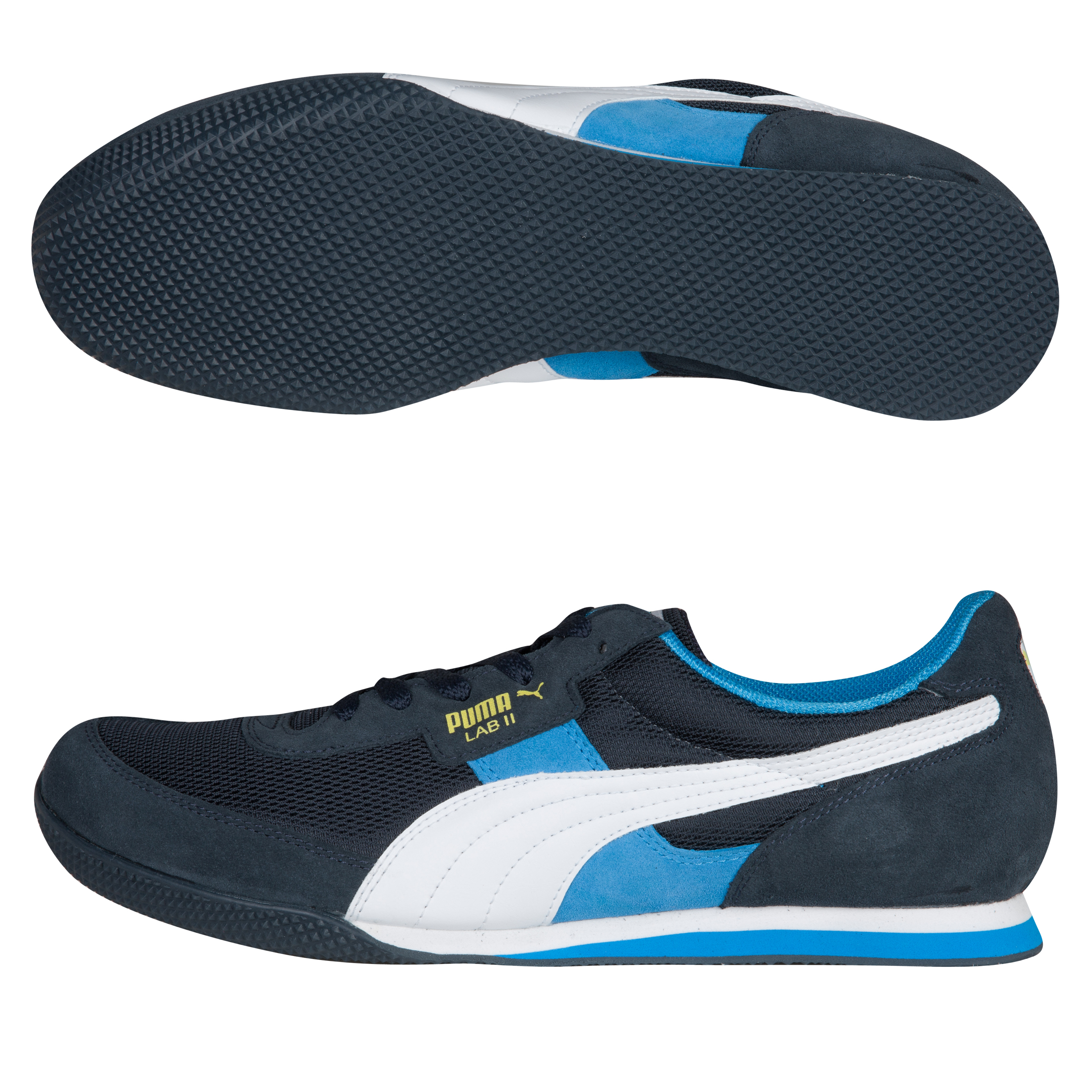 Puma Lab II FB Trainers - New Navy/White/Blithe Blue/Blazing Yellow