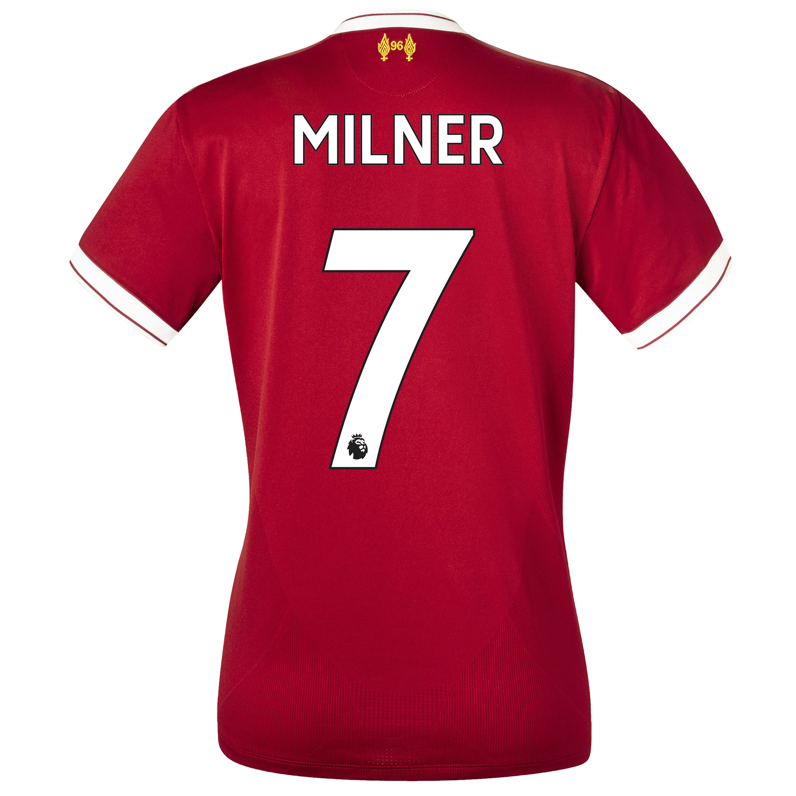 Liverpool Home Shirt 2017-18 - Womens with Milner 7 printing, Red